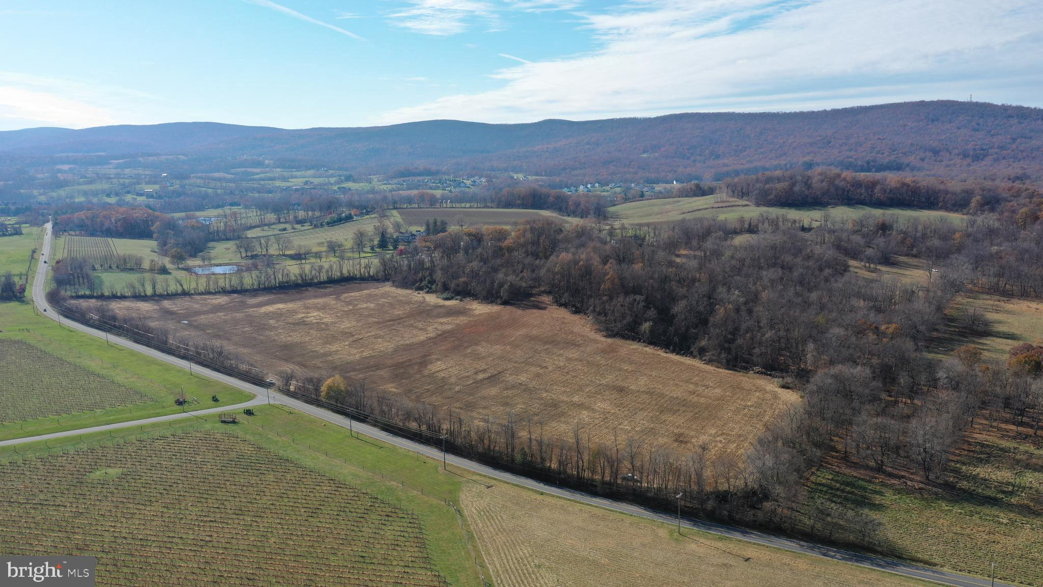 Fantastic opportunity to build your dream home! Raw land with gorgeous panoramic mountain views of the Virginia Countryside.  Mostly cleared and level.  Horses allowed.  Located across from Breaux Vineyards and close to several other wineries, antique shops and more. Minutes to Downtown Purcellville on all paved roads to the property.    In land use, seller not responsible for rollback taxes.