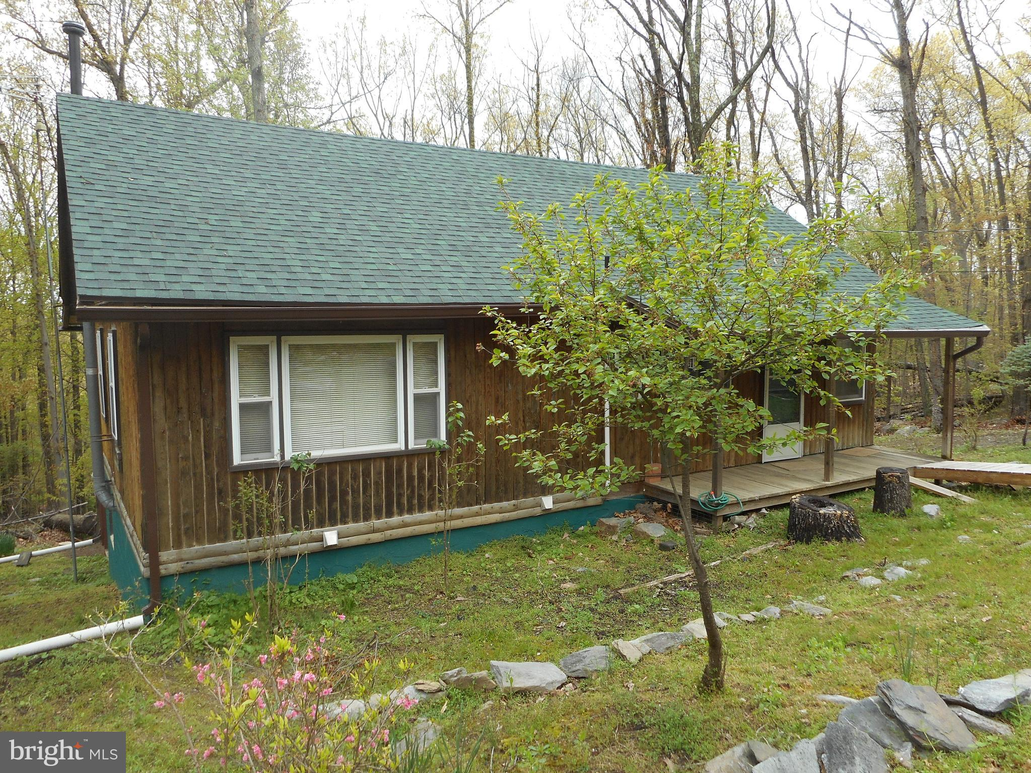 Charming log cabin on 1/2 ac lot in Shannondale.  Log beams, hardwood flooring, wood stove, large sc