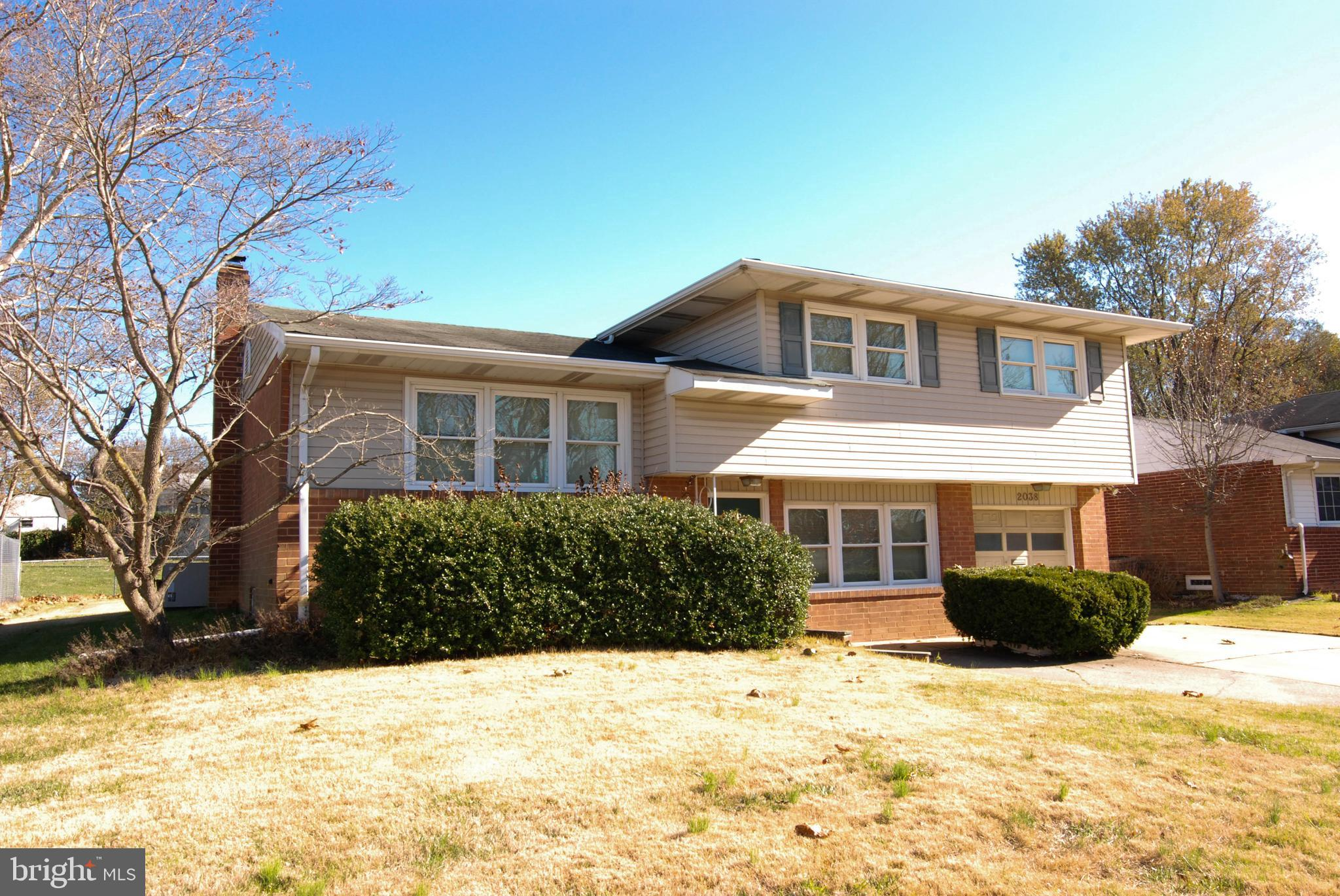 The conveneinetly located house has so much potential to be your new home!  There is plenty of space