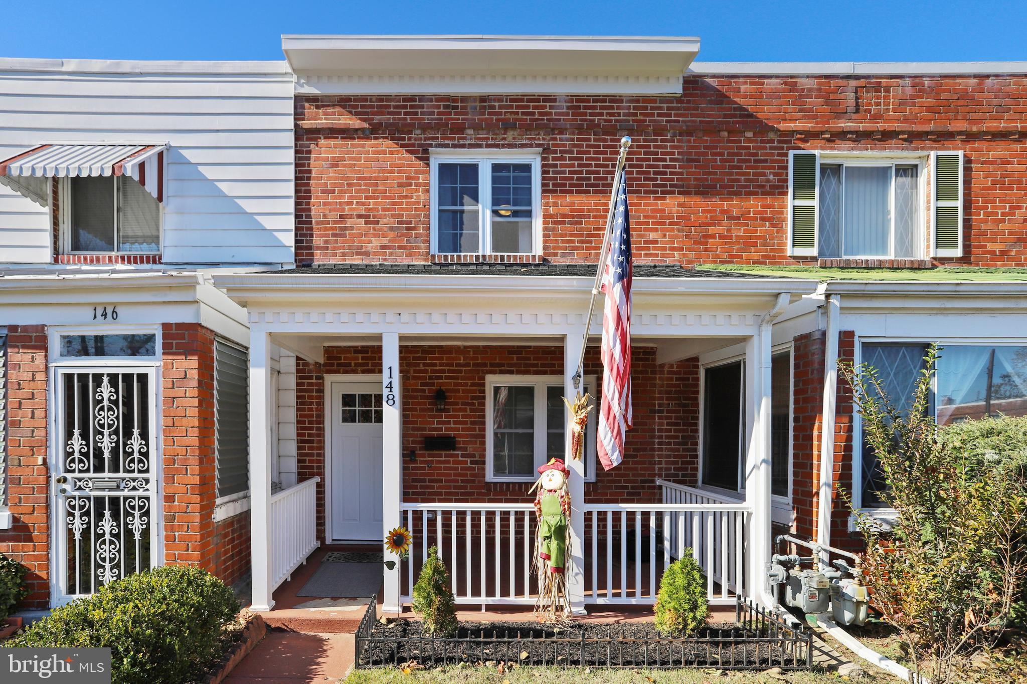 Charming row home in sought after River Terrace.  The home was newly renovated in 2018.  Hardwood fl