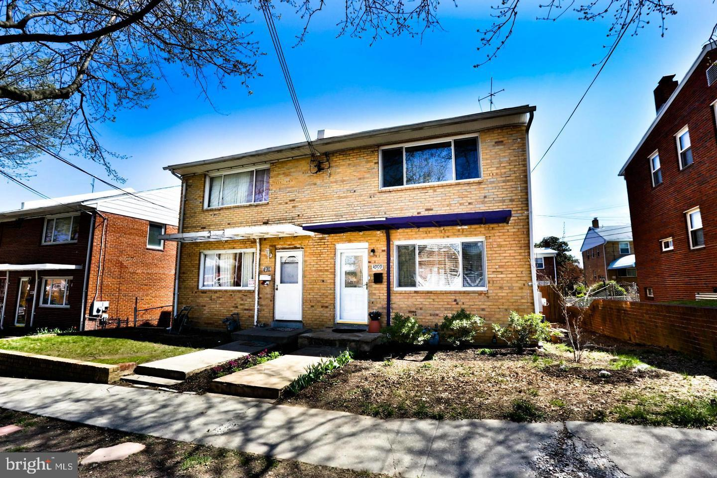 Located in the Fort Totten neighborhood, this three-bedroom, two-bath house is nestled on a quiet st