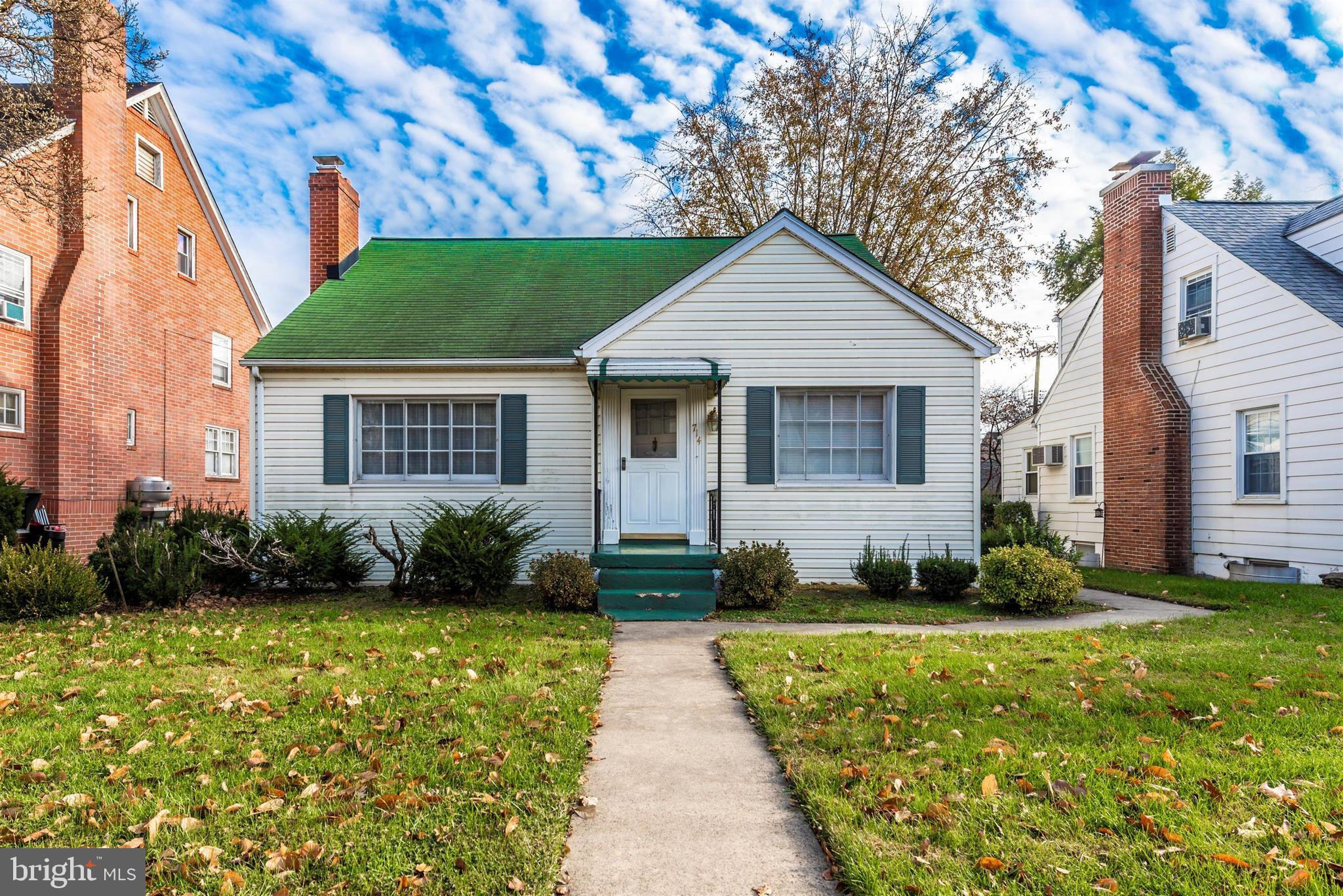 Well cared for 1950's cape cod.  Walk to Shopping and Downtown.  Main level has living room, dining