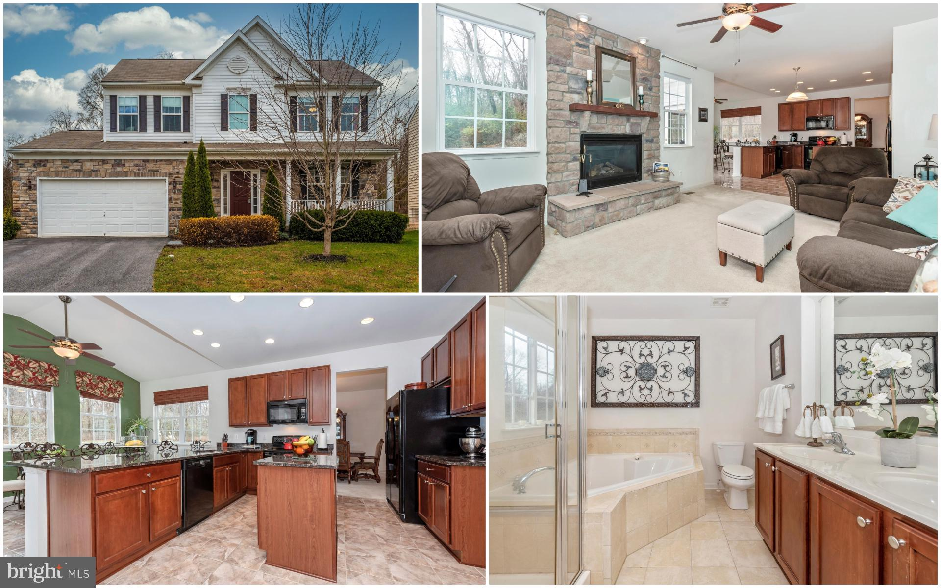 Prepare to fall in love! Stunning stone front Colonial offers 3 beds, 2.5 baths and an attached 2 ca