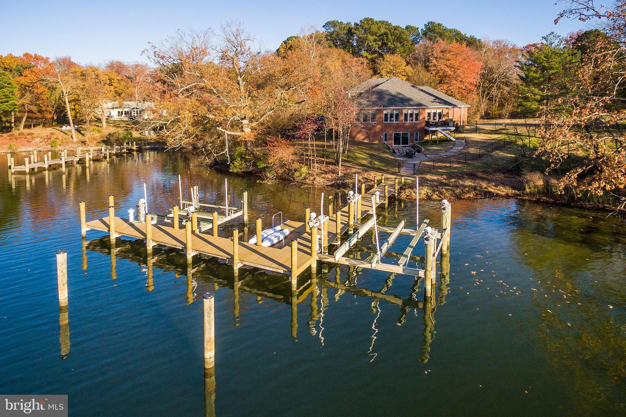 **WATERFRONT IN SOLOMONS**MAIN LEVEL LIVING** This Back Creek location with a large scale private pi