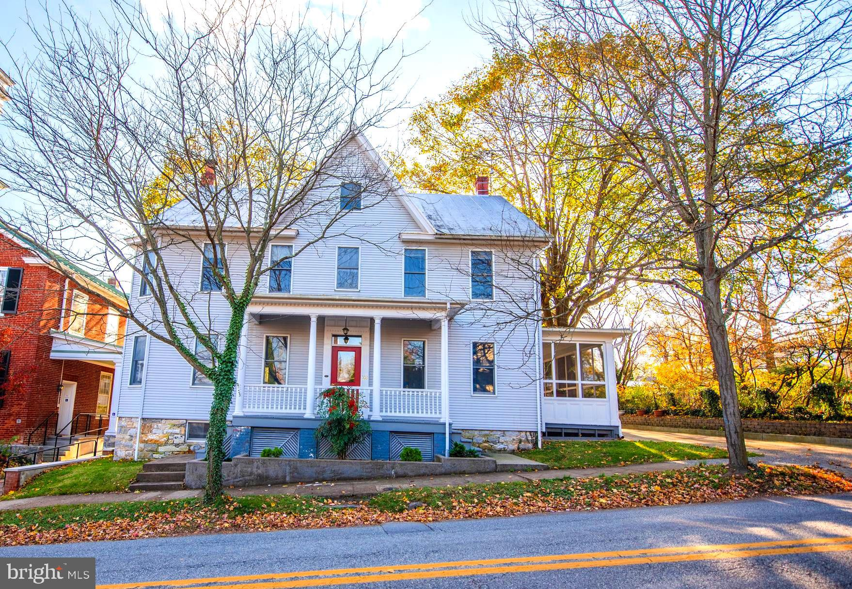 This beautiful two story, five bay German sided home was built in the late 1890's and is located in