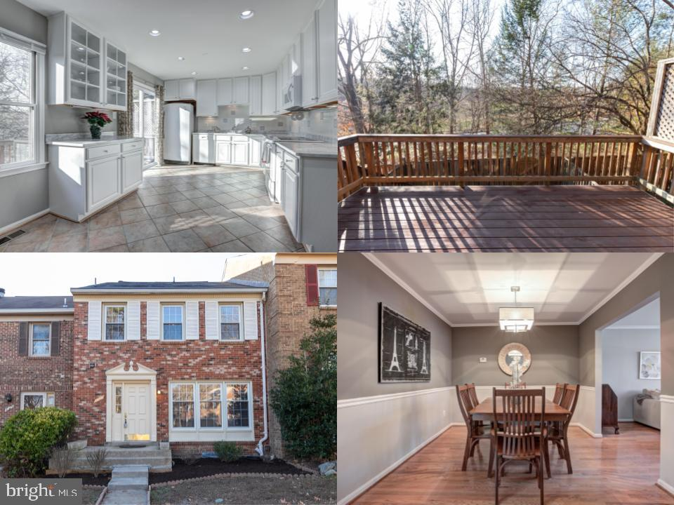 Meticulously maintained and updated townhome is move-in ready.Center hall foyer leads to spacious ea