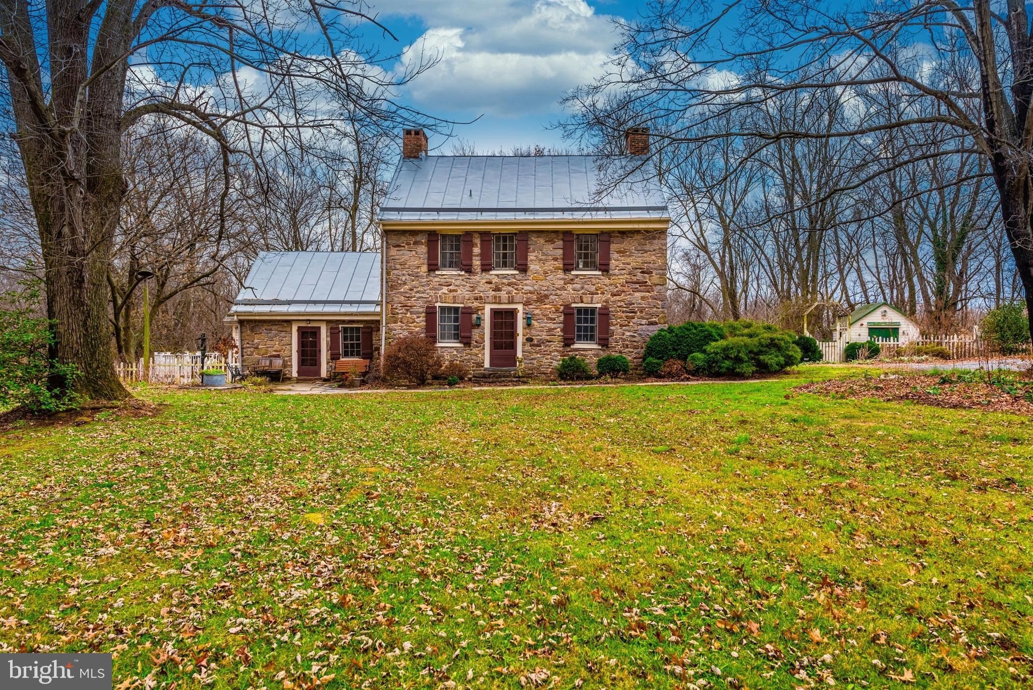 Beautiful Colonial era stone house on 12 mostly wooded acres dates to 1749 - original Devilbiss/Ogle