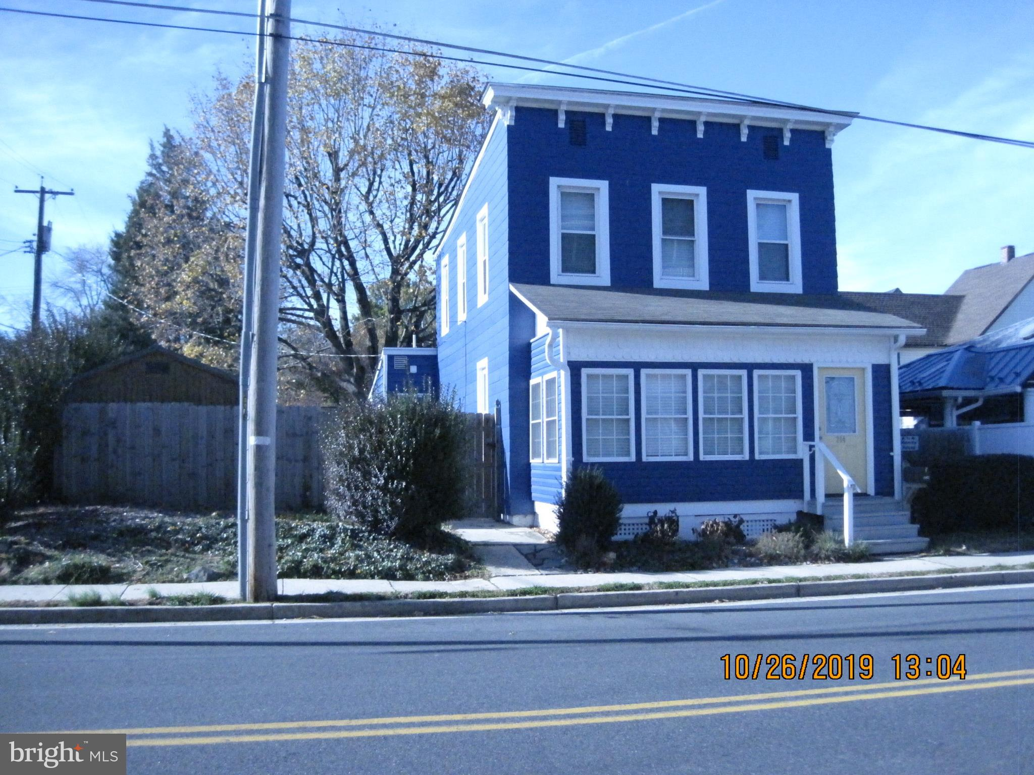 Lovely 2 story colonial in downtown Havre de Grace.  Across the street from Tidewater Marina with so