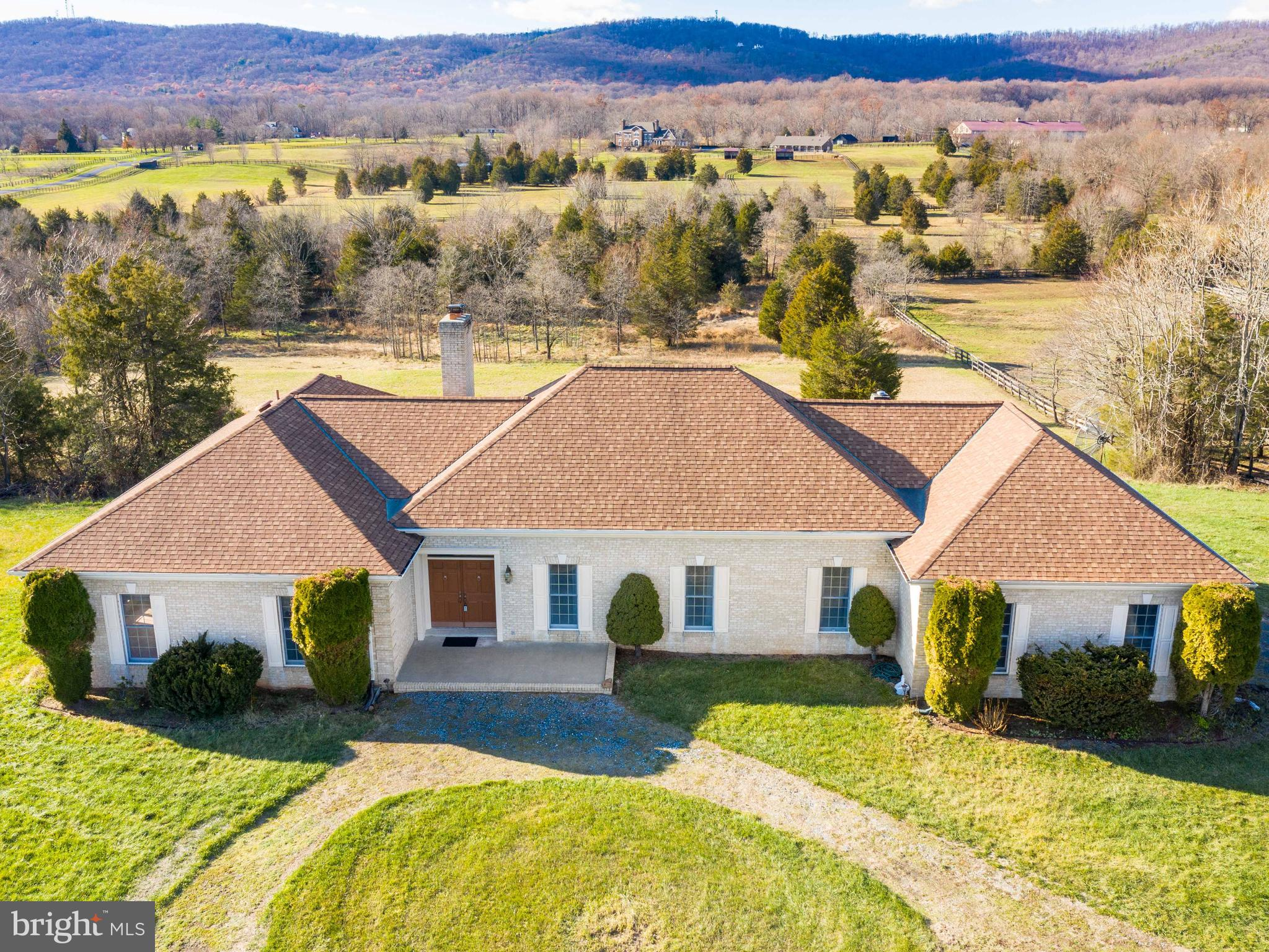 Gorgeous 10+ Acre property in the sought after Equestrian Community of Rose Hill Estates.  This beau