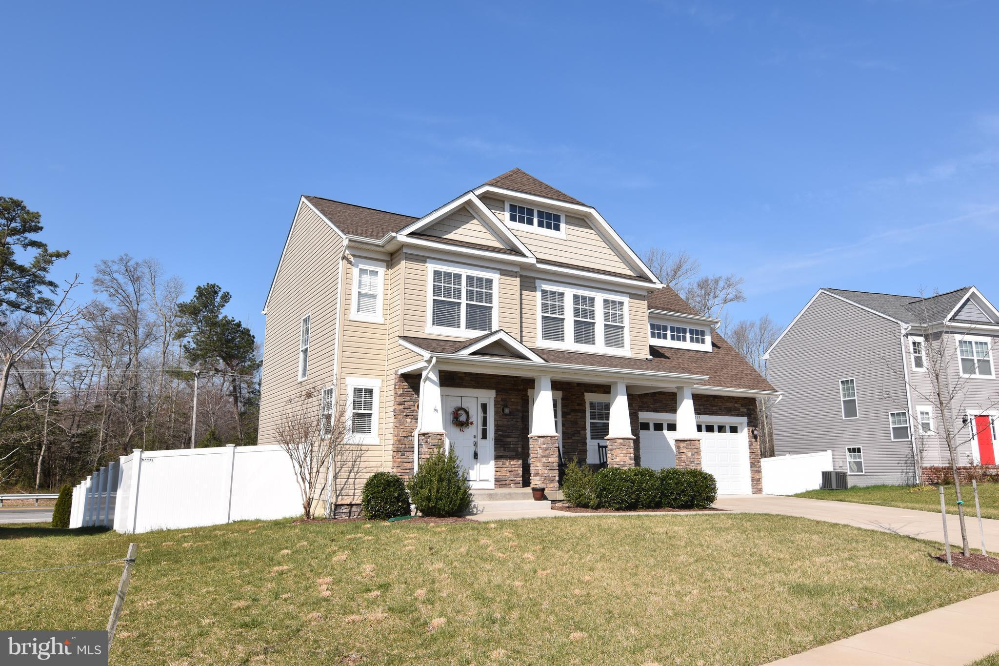 Beautiful Stone front colonial with 3 finished levels. Kitchen has granite counter tops, upgraded ap
