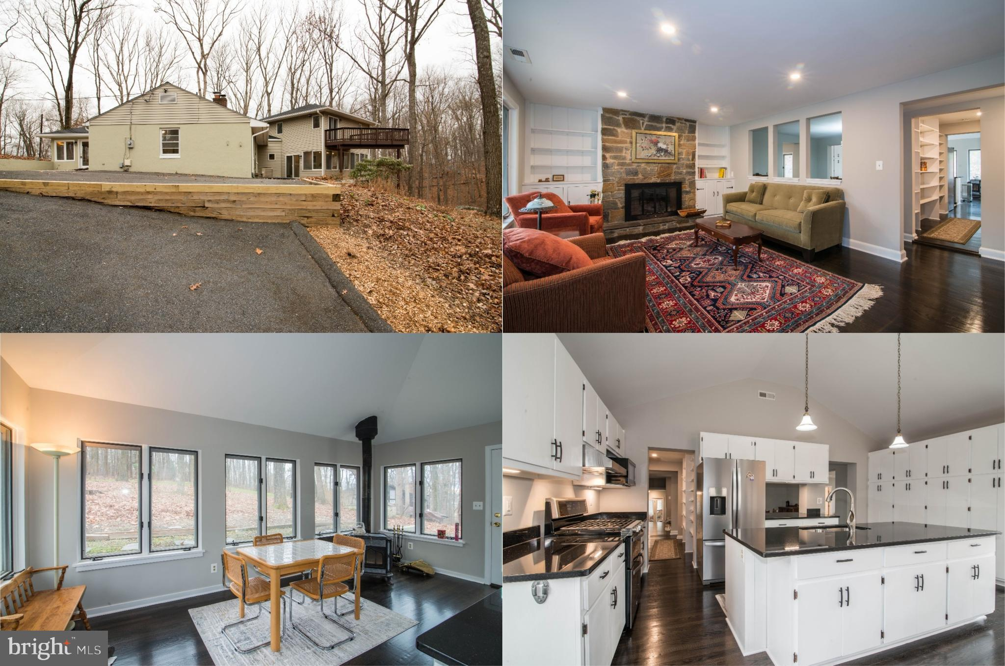 This beautifully renovated home nestled on a private 1.49 wooded acres offers a delightful mix of un
