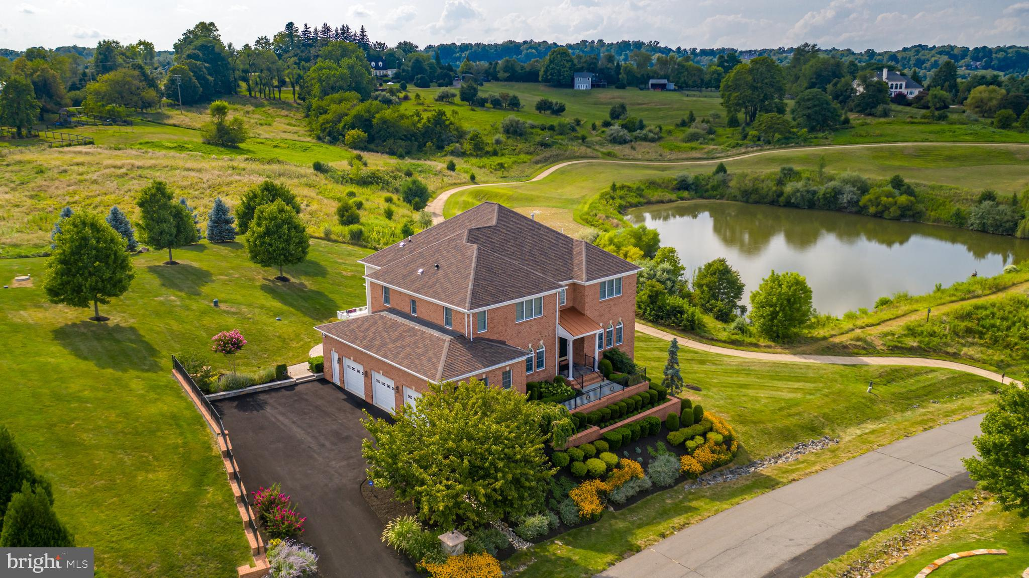A stunning, stately home in the highly sought-after Beacon Hill neighborhood of Leesburg. A mature,