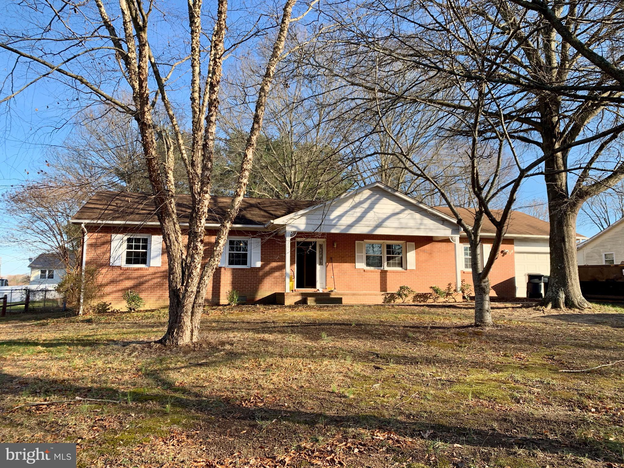 """Solid Brick Rambler in a Terrific Location! Being sold """"As Is"""" This home has some great features, but just needs a little TLC. Some  features are beautiful Hardwood Floors and Crown Molding throughout,  the Master Bath was totally renovated in Dec. of 2019. Also, all windows have been updated.  Wonderful 30' x 30' Detached Garage w/ Electricity and Storage above! Chain Link Fence around most of the Beautiful Backyard, which has Over 5000 Flower Bulbs planted! So Much Potential with this Home!!!"""
