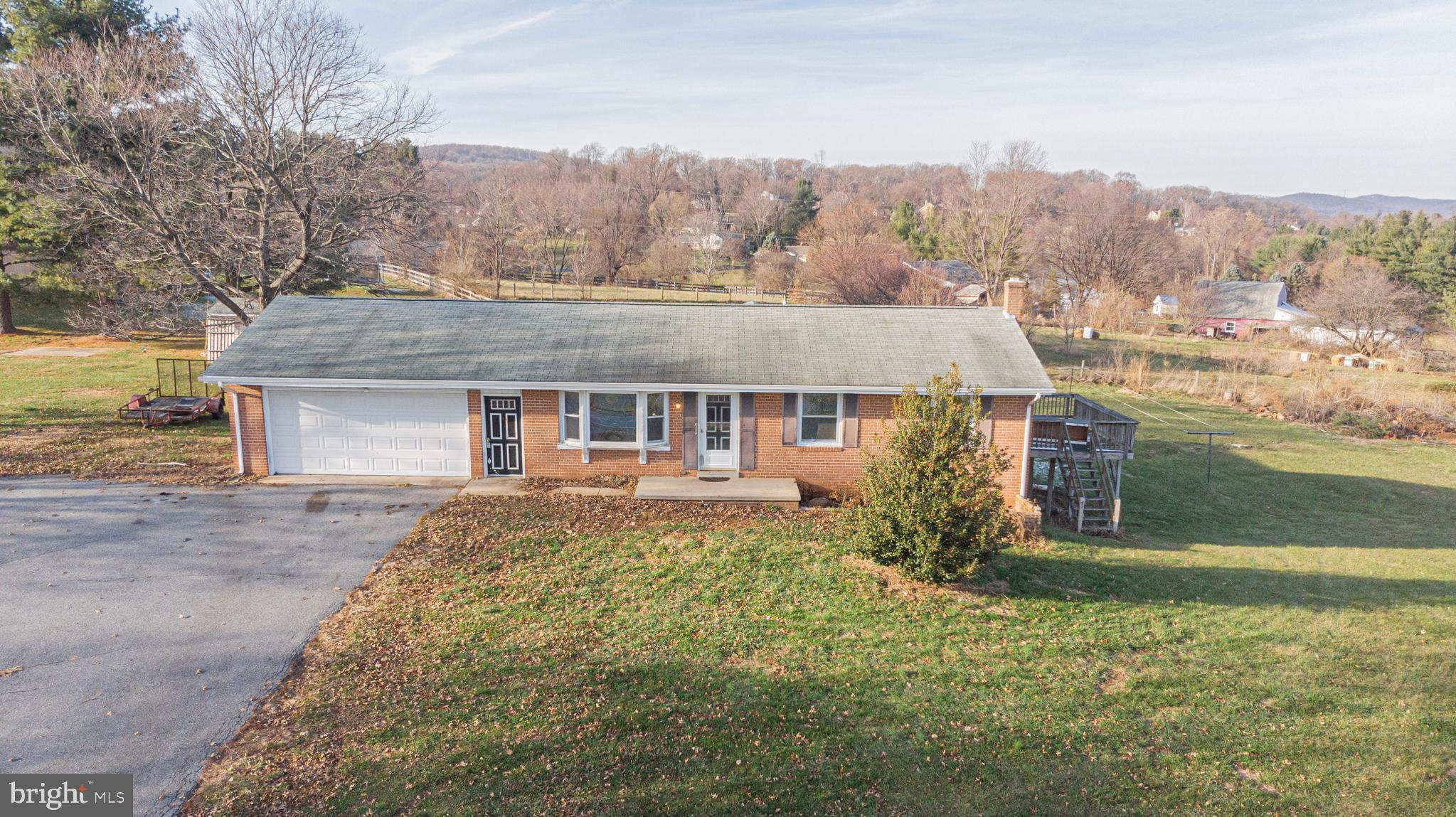 Beautifully located brick ranch with scenic views of Sugarloaf Mountain, just minutes to everything.