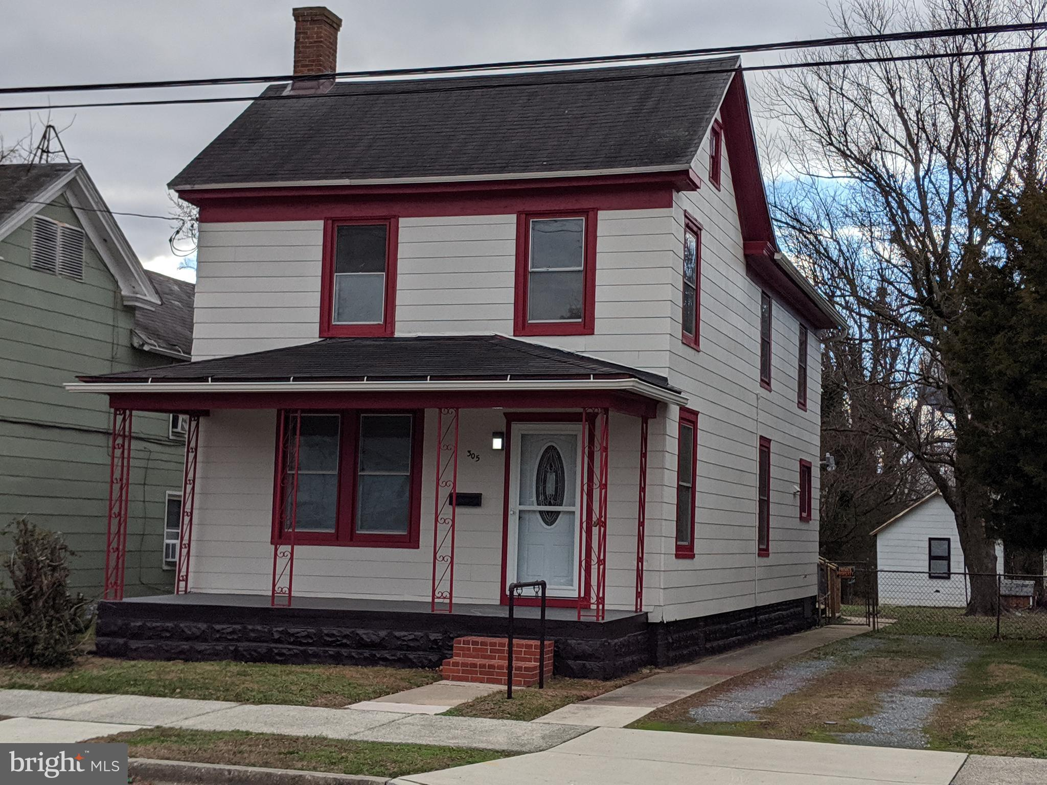 This is a beautifully renovated 3 bedroom 1.5 bath home on large town lot with off street parking wh