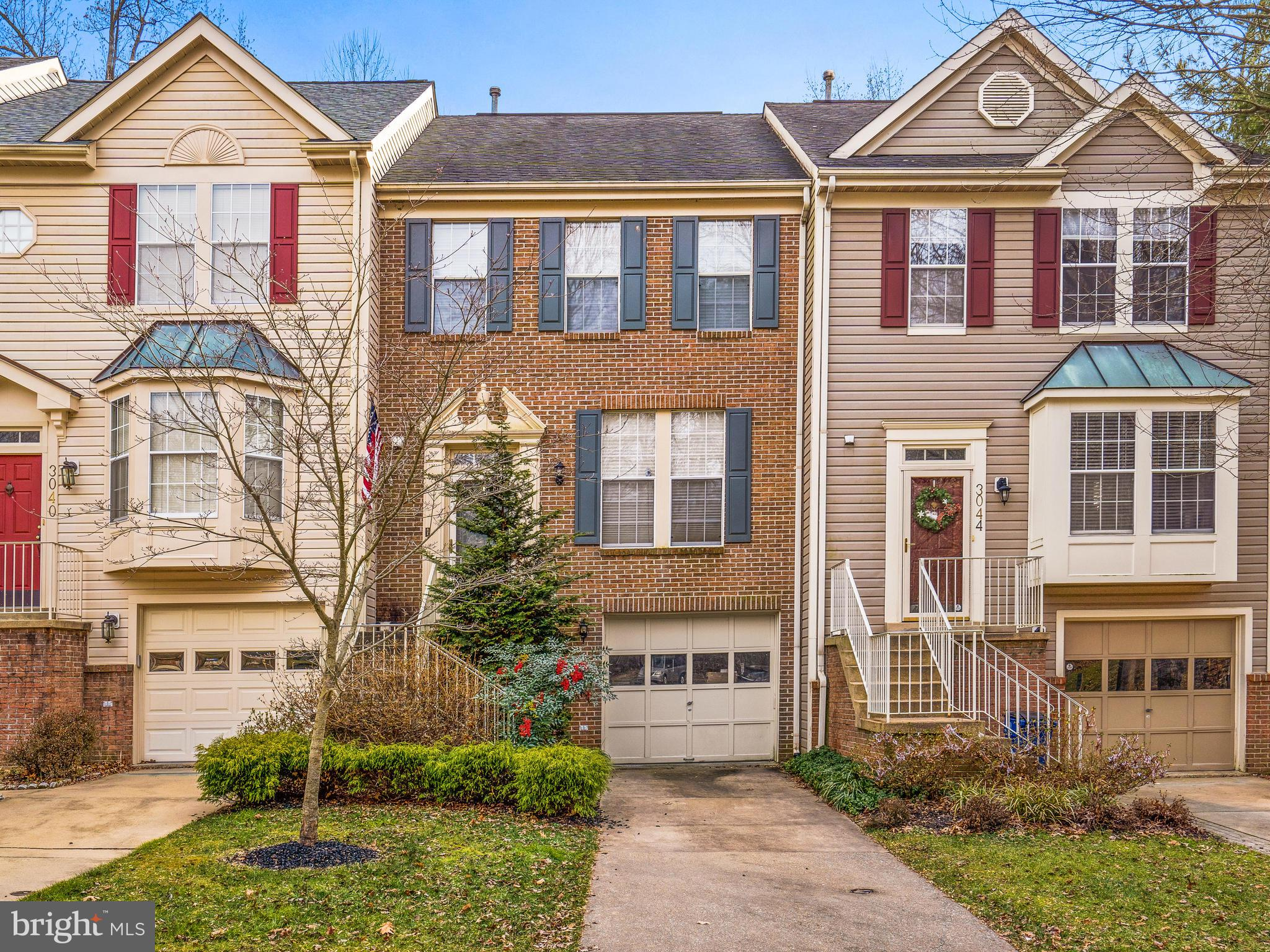 Hurry up downsizers and first-time homebuyers!!!  This stunning townhome won't last!!  Updated kitchen and baths!  Kitchen and dining area open up to a nice deck overlooking trees and a peaceful scenery. Lower level features a recreational room and garage access. Open floor plan and spacious rooms make this home sweet!  One of the best features is all the extra parking at the end of a quiet cul-de-sac and the pool is walking distance!  This neighborhood is in the heart of Olney, you can walk to the shopping center and Starbucks!! It's the perfect townhome in the perfect neighborhood at the perfect price!!
