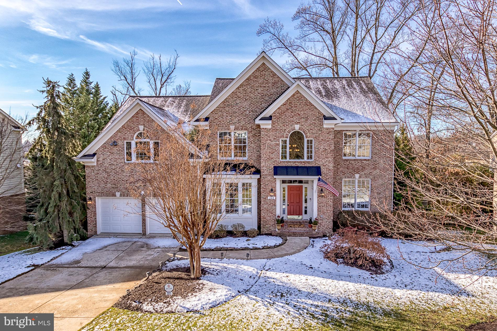 Beautiful colonial home in the heart of Downtown Vienna. Quiet .31 acres backing to trees. Elegant i