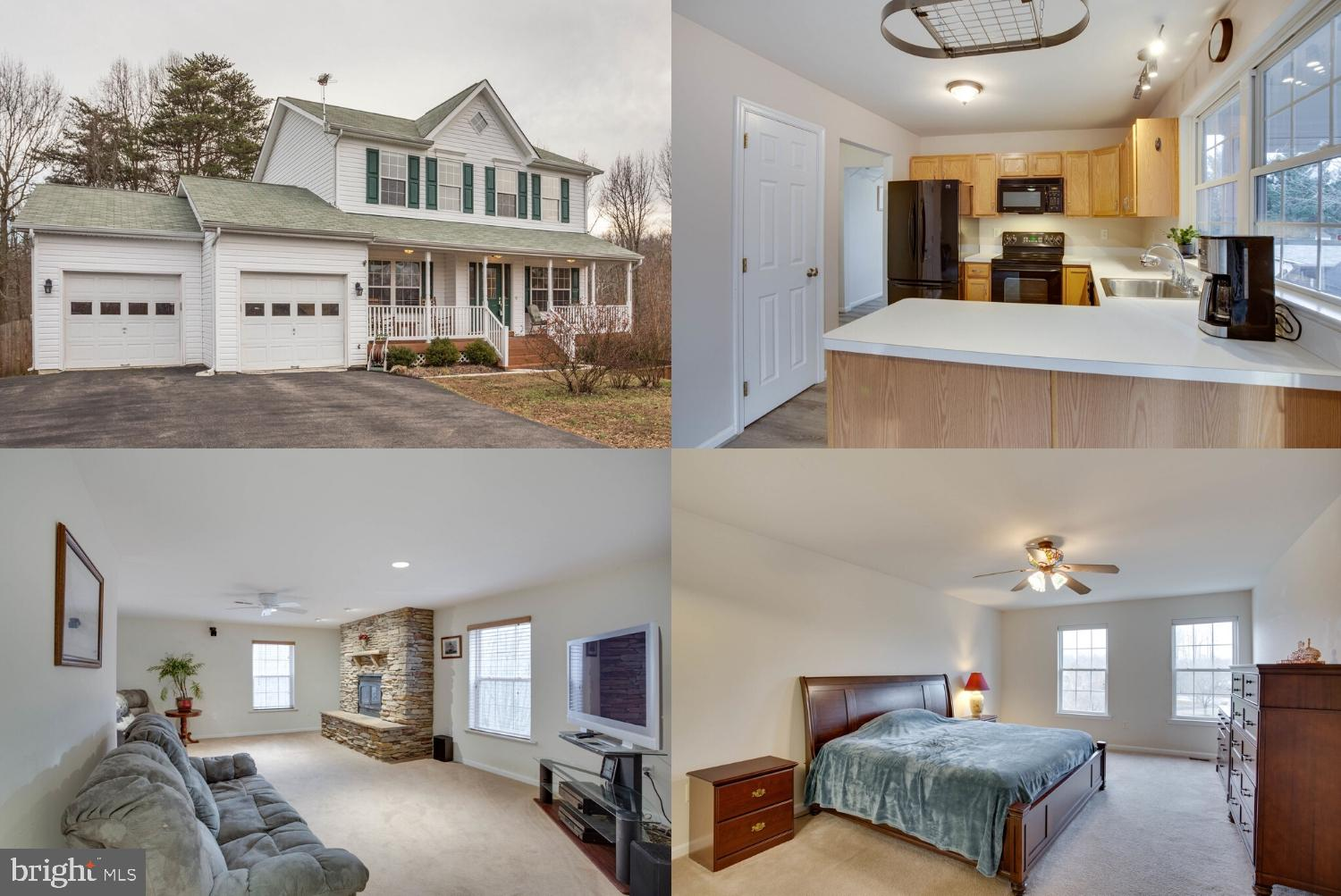 Lovely Colonial Home on private 1 acre lot. This home boasts beautiful wood floors throughout the ma