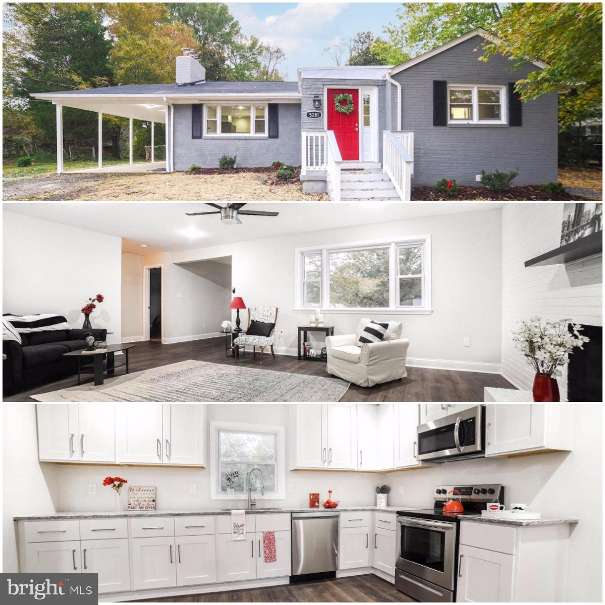 Beautifully and professionally renovated home in the Red Hills Estates of Indian Head. This home boa