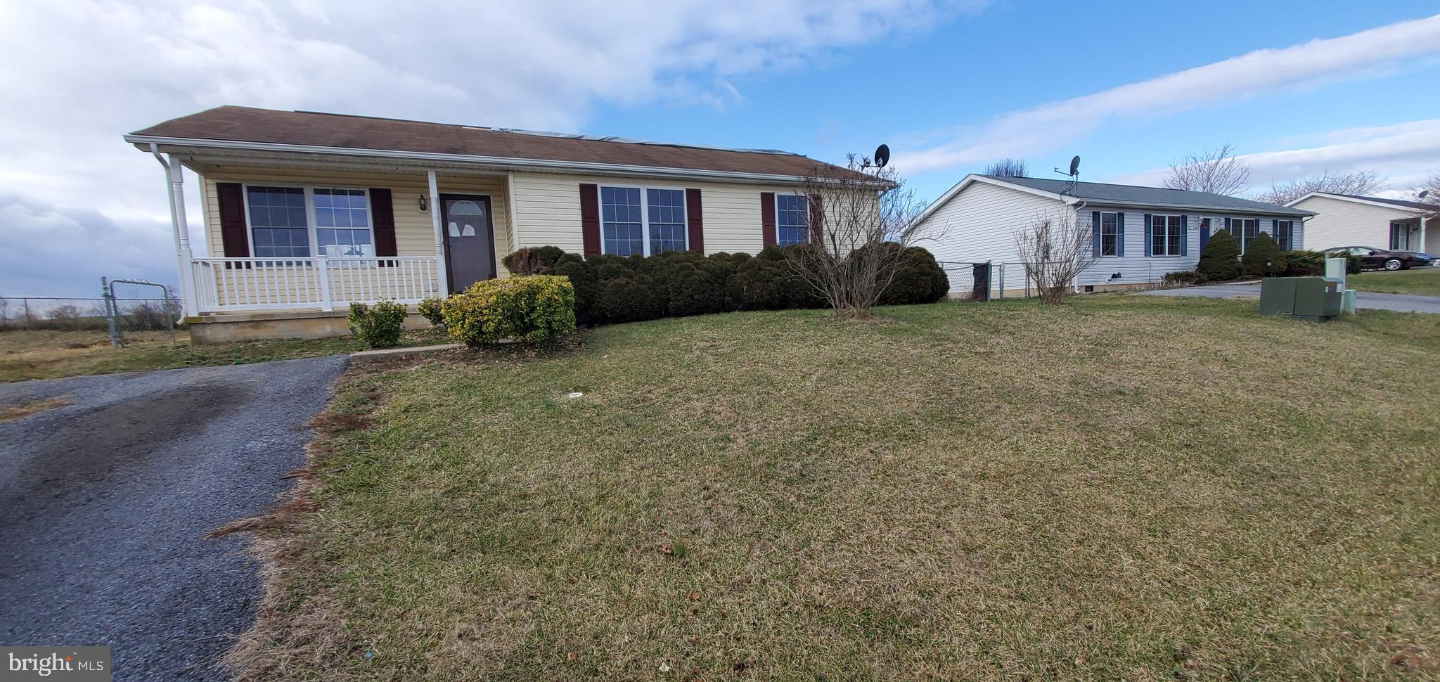 One Level Living!  This Rancher features 3 bedrooms with 2 full baths.  Covered front porch along wi