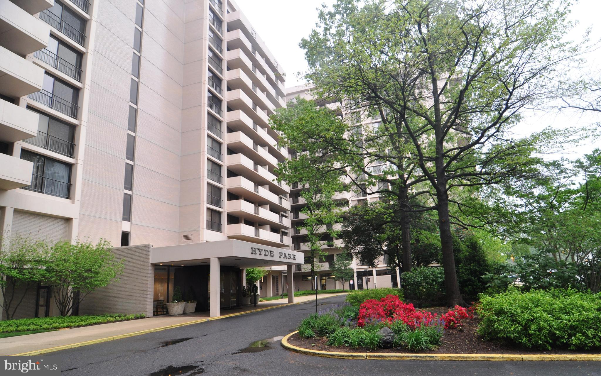 Ballston living at its finest.  MOVE-IN READY,  UPDATED &  light-filled CORNER UNIT.  LARGEST 2 BEDROOM/2 BATHROOM MODEL at Hyde Park.  Ultra-spacious home offering more than 1,700 square feet of space.  Heating, air-conditioning,  gas,  electricity, water/sewer all included in condo fees!  Freshly painted, new carpet, renovated eat-in kitchen with white cabinets, granite counter tops, stainless steel appliances, 5-burner gas range, pantry,  hardwood laminate floors and large windows.  Sliding glass windows replaced in 2019.  Enjoy watching the skyline from your balcony located just off of the dining room.  Open floor plan living/dining room.   Huge Master bedroom with en-suite bathroom, extra large tiled shower,  2 walk-in closets.  Just blocks to the Ballston Metro Station,  Metro and ART buses stop right on the corner, bike-sharing stations nearby.  Annual  garage parking fees available for up to 3 vehicles- 1st vehicle-$225; 2nd Vehicle-$375; Third Vehicle-$675;  Motorcycle- $125.   $250 Move-in Fee . Additional storage lockers available for rent.  24-hour Front Desk Concierge and on-site management.  Outdoor pool and community garden, private park with gas grills, gazebo and picnic tables.  Hyde Park is a smoke-free community.   Pet restrictions apply.