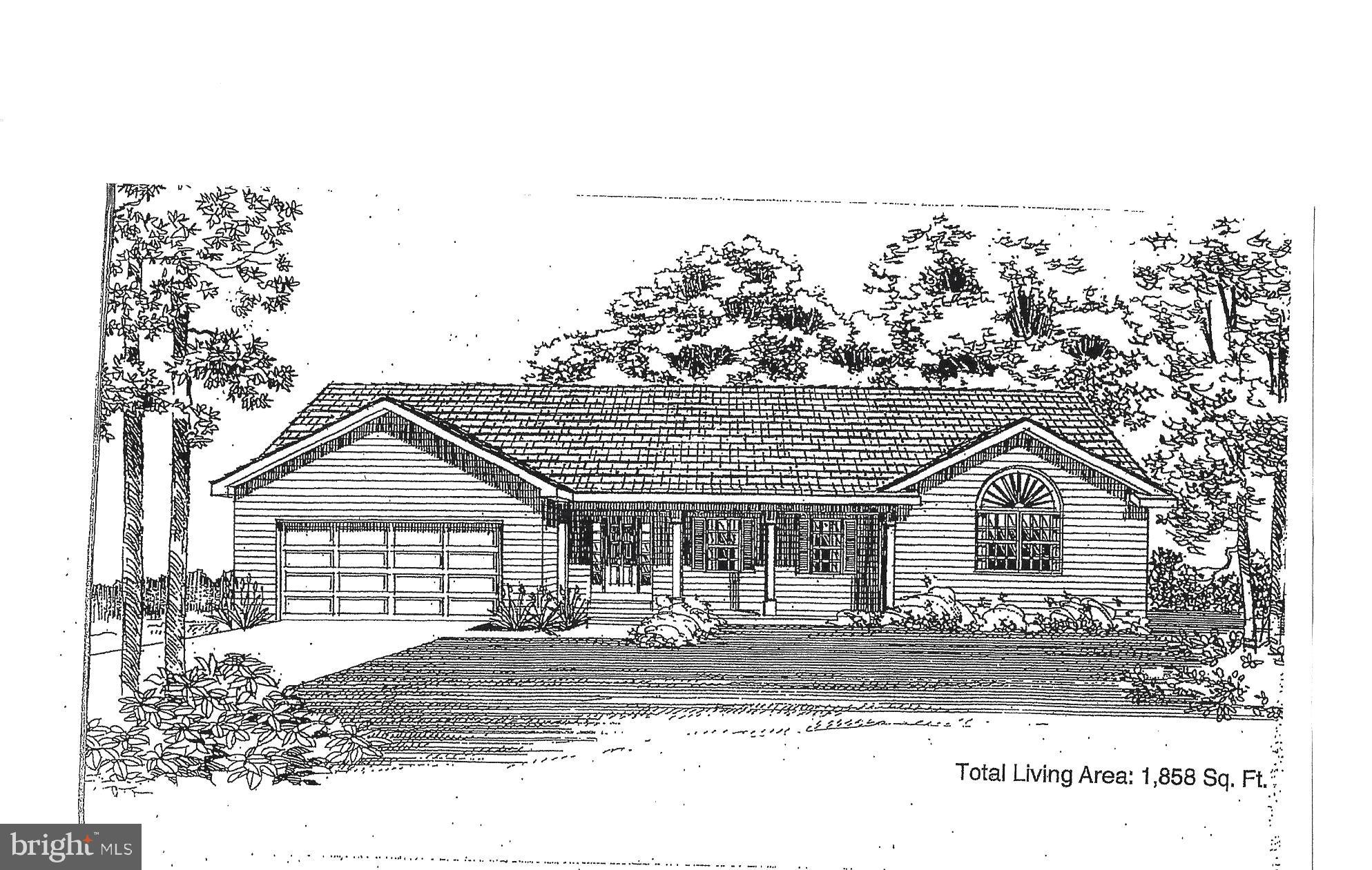 To Be Built!!  BUILDER HAS STARTED HOUSE!!! Still time to customize and make your own selections. RAMBLER split floor plan!  Floor plan is open with Master  bedroom on one side two bedroom on other side of house. House will have many spectacular features. Kitchen with upgraded cabinets, appliances and granite counters. Living room, dining room kitchen and foyer with engineered hardwood floors. Three large bedrooms, two full baths, laundry room. Master bedroom with walk-in closet.  Ceiling fans in all bedrooms and living room. recessed lights in kitchen .  Covered  front porch and 2 car garage. And A Lot More!!