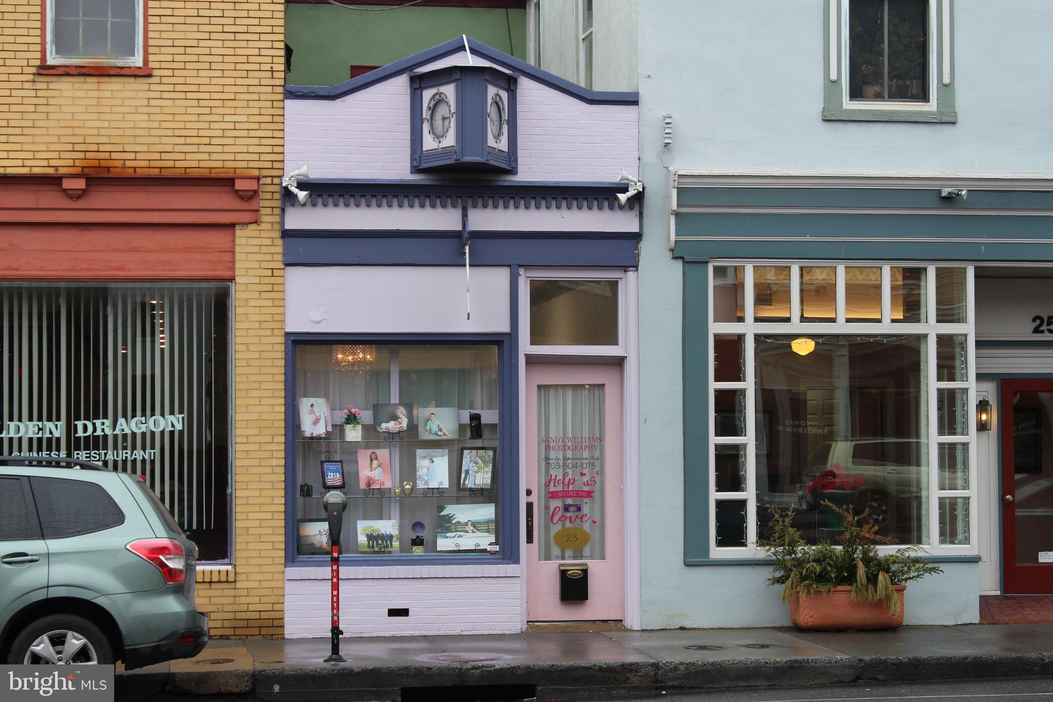 Storefront located on Main Street in Berryville.  Business not for sale, only real estate. Ideal for