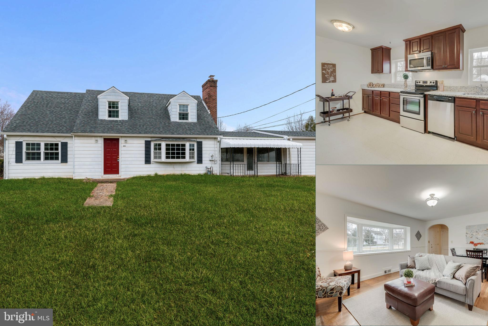 Terrific 4 bedroom, 2 bath Cape Cod posted on a 1 acre corner lot. Home features an upgraded kitchen