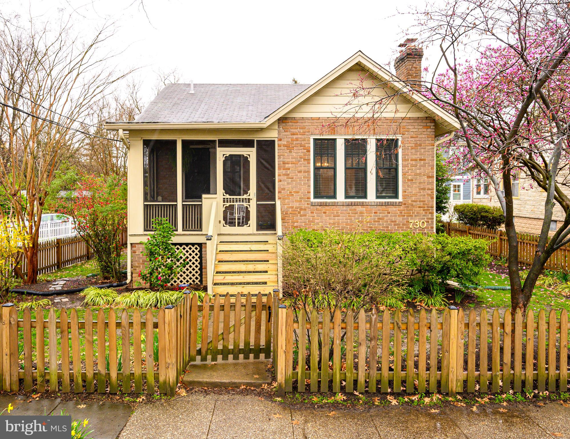 Offer Deadline Thursday 3/26 at 5pm.  Quintessential Takoma Bungalow! Lovingly cared for and updated by two previous families, this sweet home is ready for its next owner. Original moldings, doors, crystal doorknobs. Pella wood windows. Spend weekends relaxing on the breezy screened porch. Living room and Dining room spaces open to each other for fluid entertaining. Beautiful vintage kitchen cabinets provide floor to ceiling storage, plus walk-in pantry. Renovated bath. Two ample sized bedrooms on main level; finished attic space for additional sleeping space, home office, or crafts with generous under eave storage. Basement offers additional storage space plus rec room and laundry. Large attached garage/workshop for bike or stroller storage, home gym equipment; workbench for tinkering conveys. Professionally landscaped yard with great potential for gardening and rear driveway for easy unloading.Three blocks from Walter Reed town center and two libraries; Target and Rock Creek Park just a few steps more. Old Town Takoma shopping and dining within easy walking distance; 10 min walk to Metro.Owner/designer will convey architectural drawings to add bathrooms, bedrooms and thoughtfully expand home.