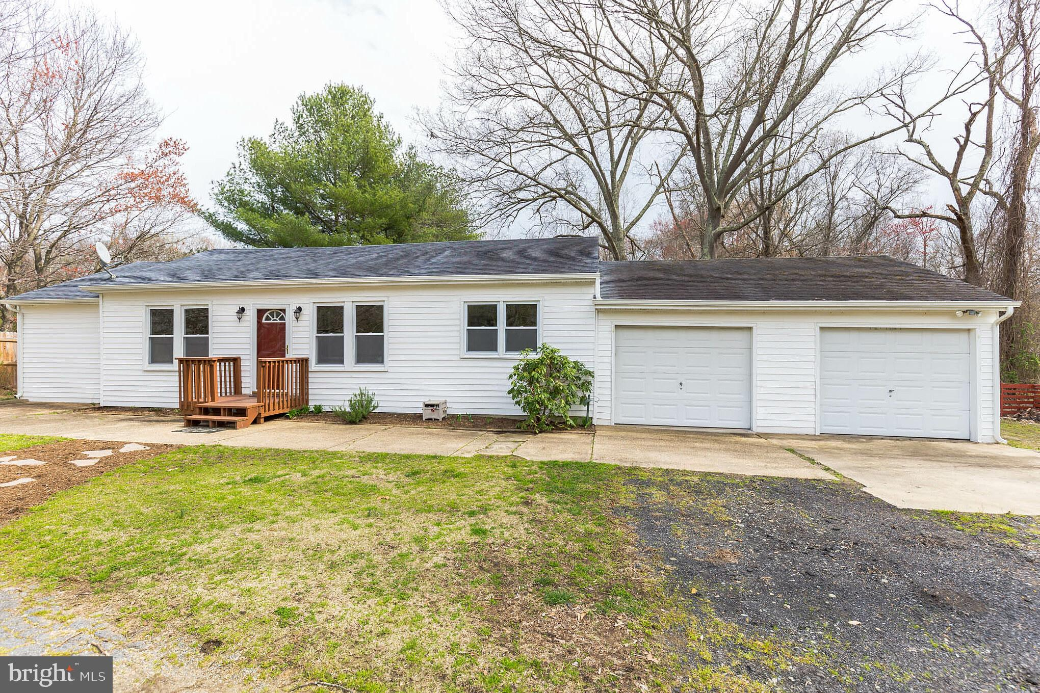This beautiful rambler in Huntingtown is located between Joint Base Andrews and PAX River Base.  It