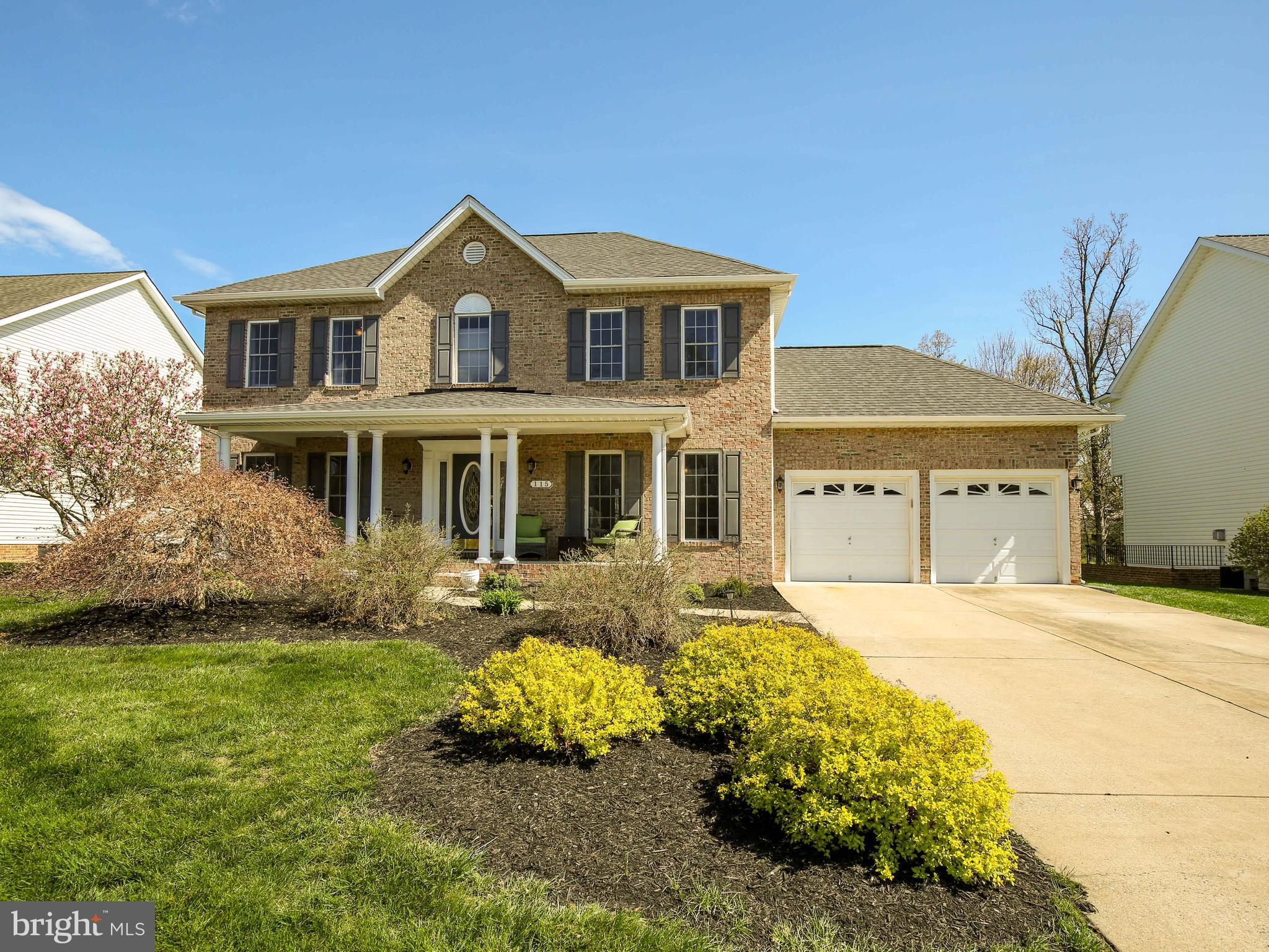 Welcome to  this lovingly maintained brick front colonial located in The Camp at Mosby Station subdi