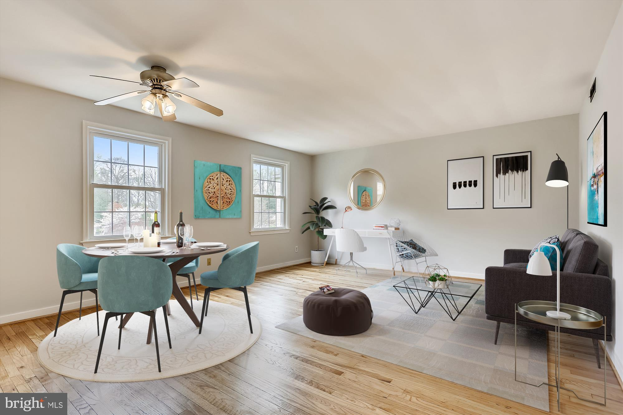 Renovated and virtually staged 2BD/1BA unit in the popular and convenient Rock Creek Gardens condo c