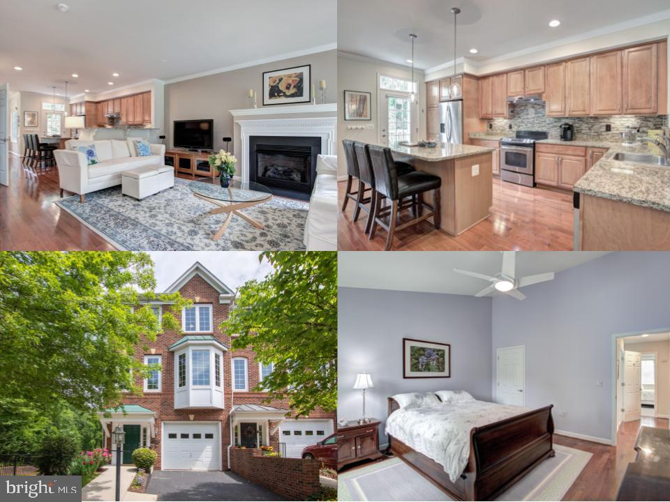 Stunning end unit townhome in serene lakeside community. A rare find for this area, this home has a