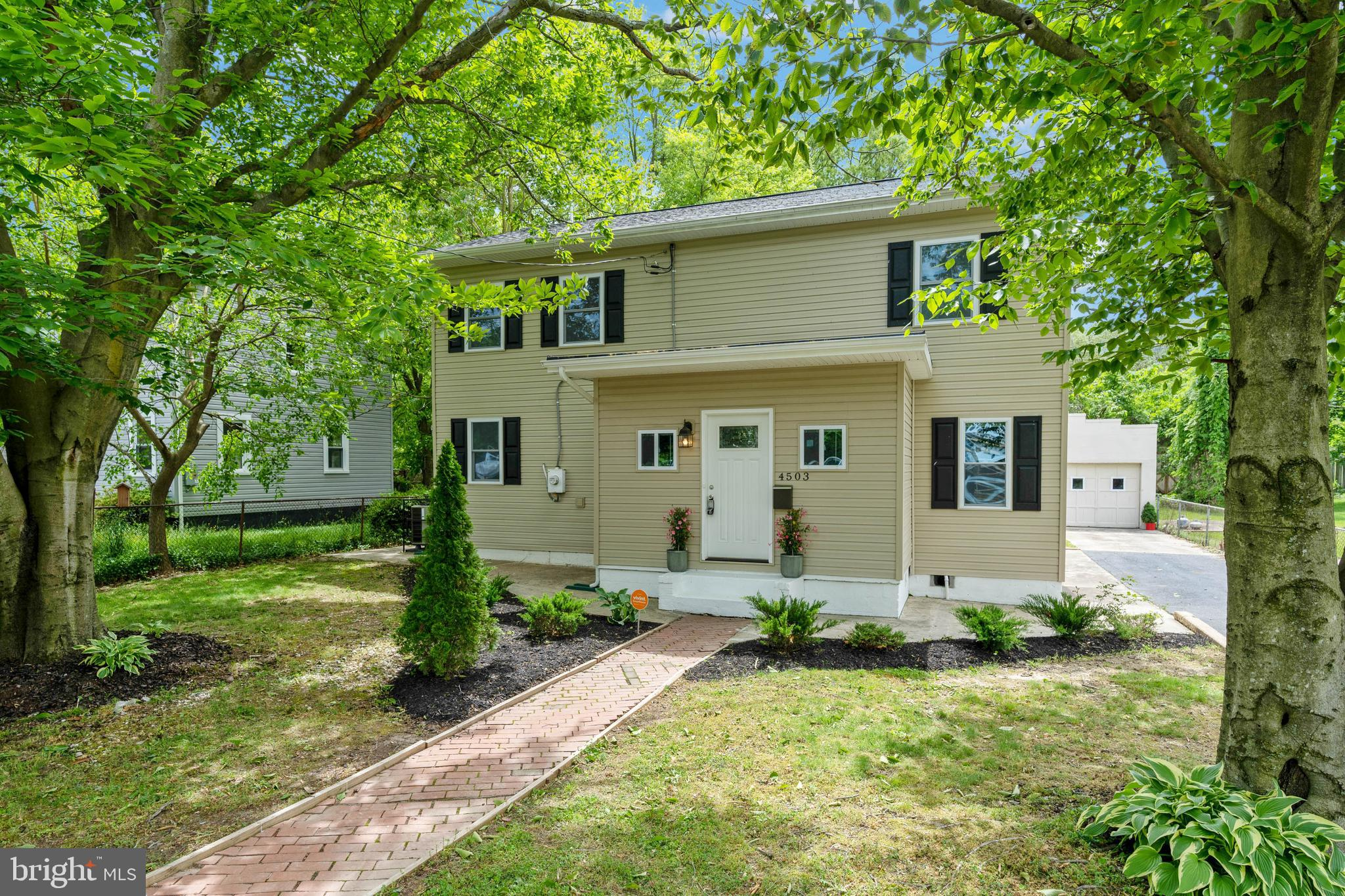 Beautifully renovated 5 bedroom, 3 full bathroom colonial in the charming Town of Morningside! This home has all you desire and more! Beautiful open concept main level that boasts a fully renovated kitchen with plenty of storage, white cabinets, stainless steel appliances, granite countertops and an island. The main level has hardwood floors, a laundry room with washer and dryer; as well as 1 bedroom and 1 full bath. Upstairs, you have 4 bedrooms and 2 full baths. The  master bedroom boasts an updated and spacious ensuite with dual vanities and granite countertops.  Recent upgrades include: bathrooms, windows, doors, flooring, cabinets, fixtures, lighting, plumbing, roof, exterior siding and a dual zone HVAC. This house's layout, features and huge backyard are great for indoor and outdoor entertainment! A one car garage plus a drive way offers plenty of parking options. Minutes away from Andrews Air Force Base with easy access to major commuter routes including I-495, Suitland Parkway, Allentown Road and Branch Avenue; as well as a short drive to the MGM Grand and National Harbor. This amazing property will not last!Virtual Tour Link: https://vimeo.com/420959360