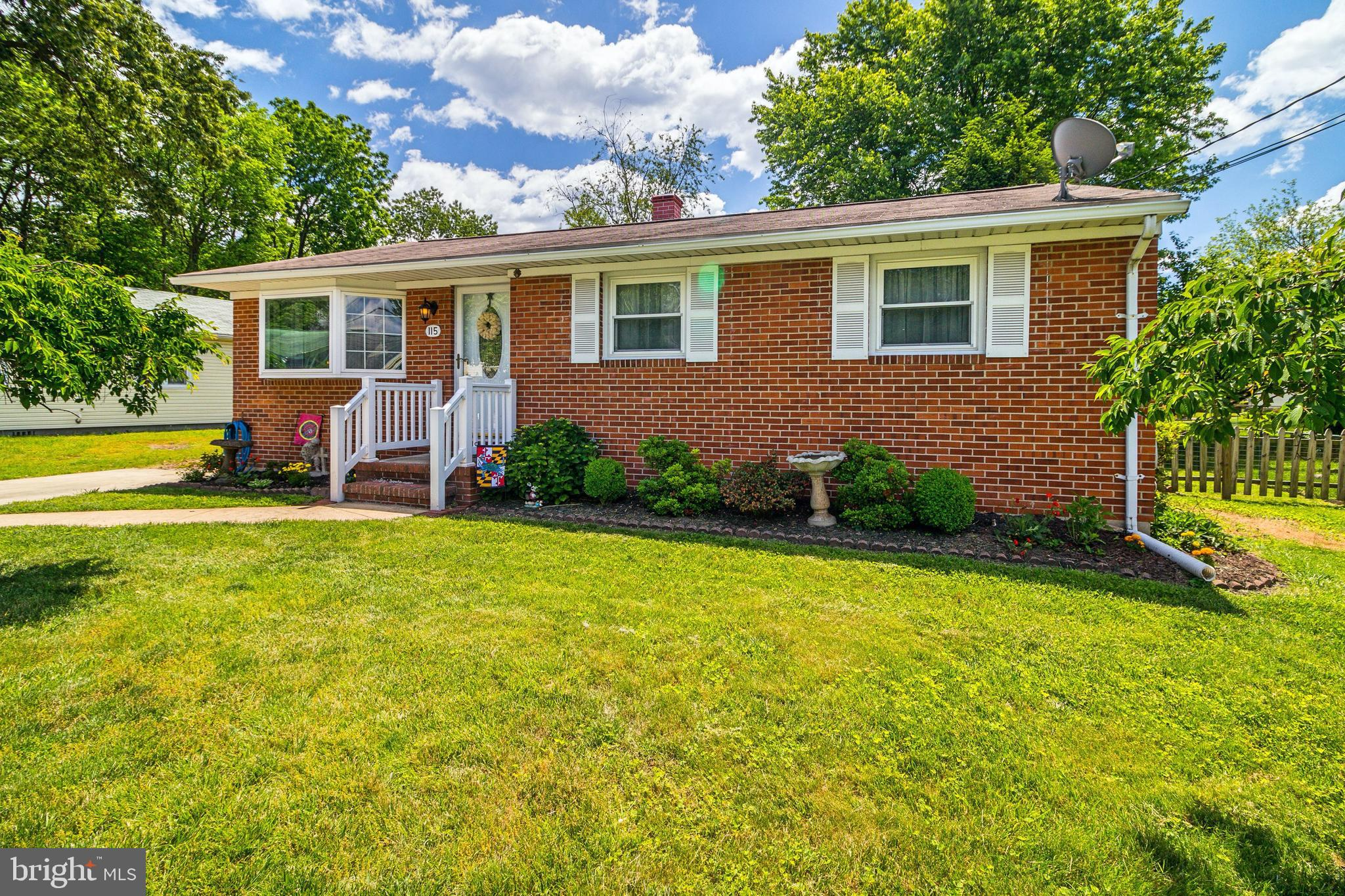 BACK ON THE MARKET - Don't Miss Out, this home is lovely! Enjoy this Brick Ranch style home in Woodlawn Heights on a private and peaceful street.  2126 SQ FEET of living space. Freshly painted, updated light fixtures & bathrooms.  Sliders lead to a 12' x 24' composite deck overlooking a nice sized fenced back yard. Lower level has large rec room area, laundry room and workshop/storage room. Located across the street from the BWI bike path. Easy access to 695, 295, 97, I95 & 95 Minutes from BWI Airport, Light Rail & Marc Train.  Less than 15 minutes form the Ravens & Orioles stadiums. 30 minutes from Annapolis & 45 minutes from Washington, D.C. Easy access to shopping, entertainment & dining. CHECK-OUT THE 3D TOUR IN THE VIRTUAL TOUR LINKS!