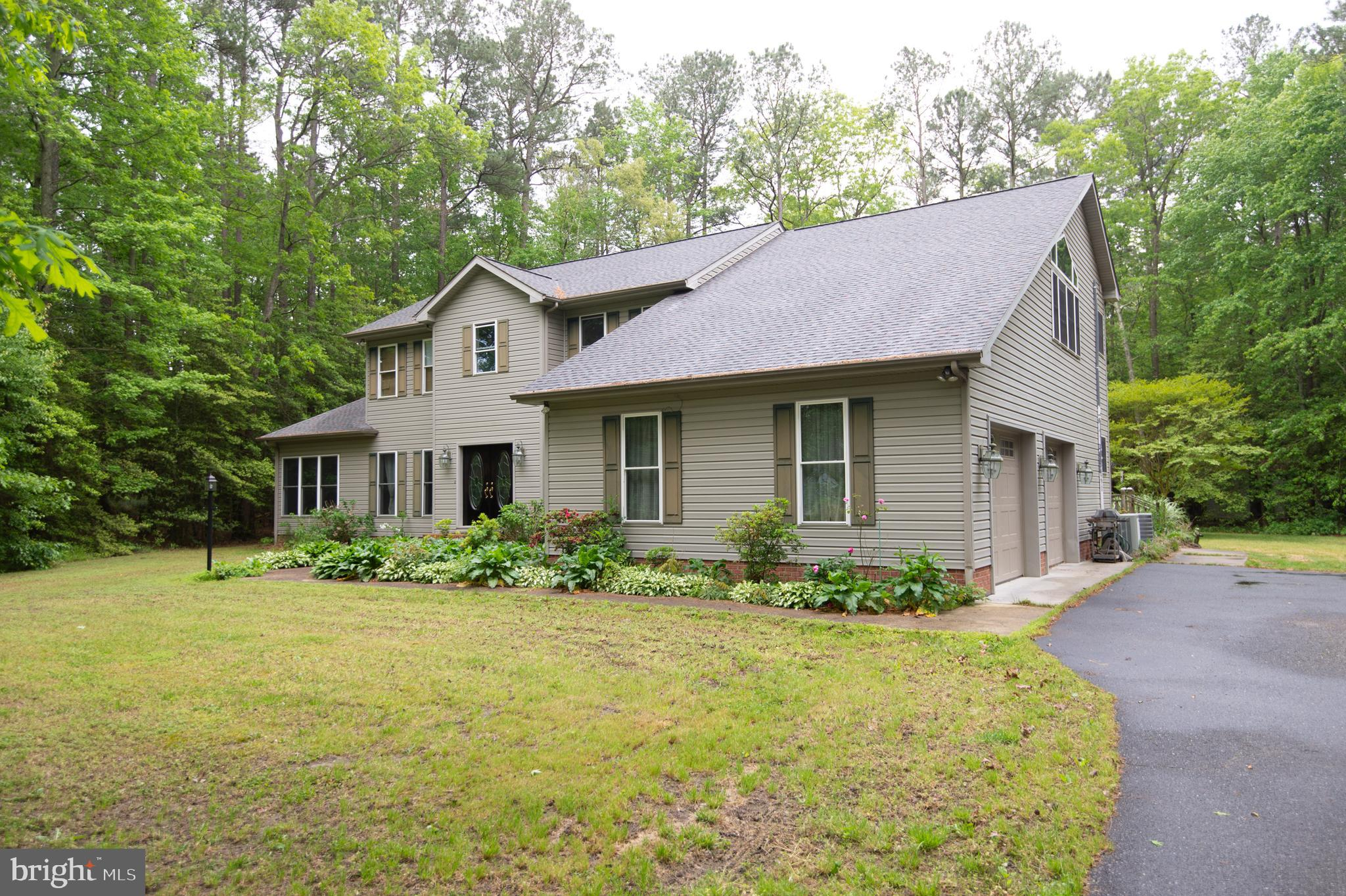 Outstanding 49 +/- acre parcel !  This is a rare find - 4BR,  2 1/2 bath home featuring cathedral ce