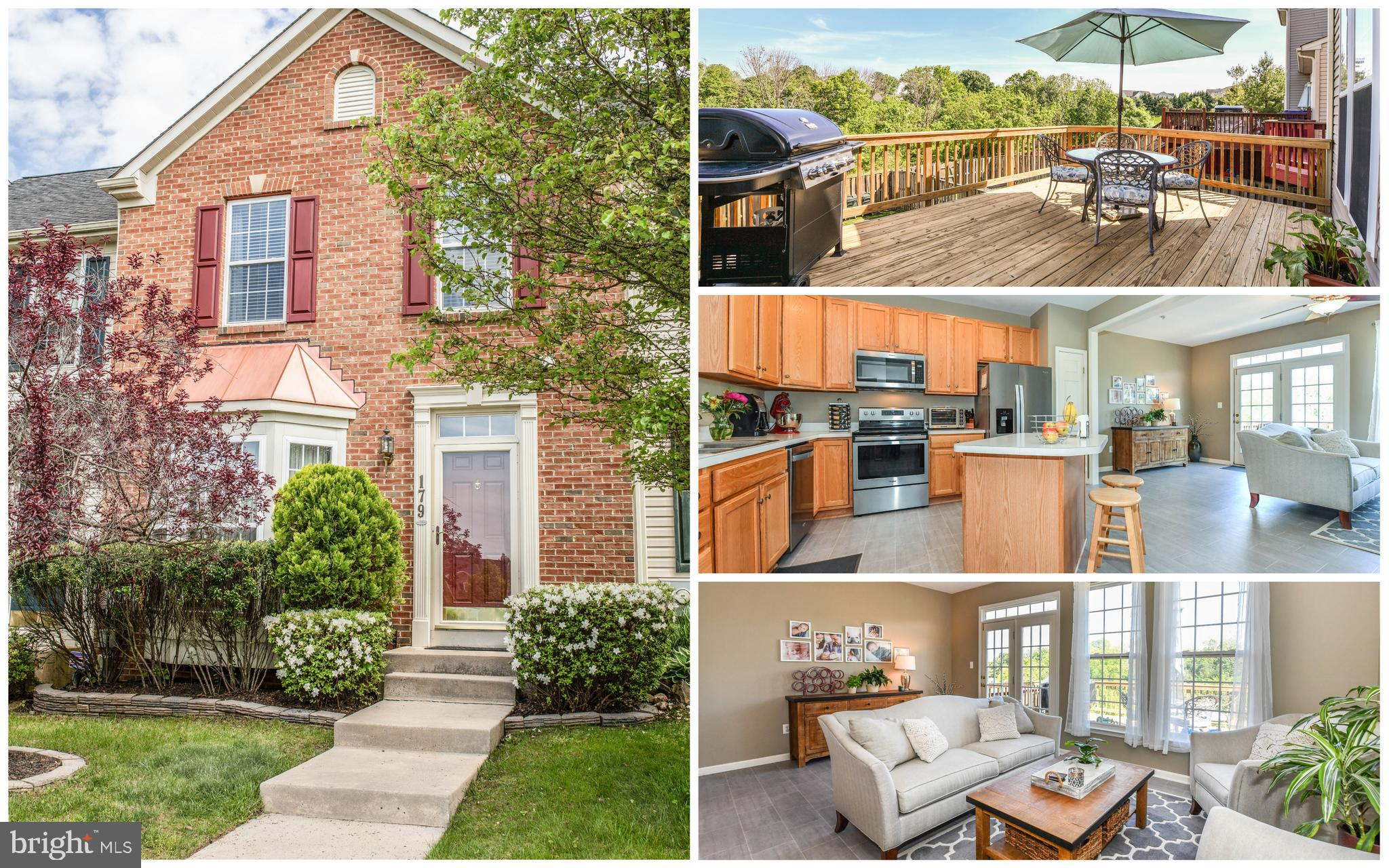Beautiful brick front townhome. This townhome has three-levels of bump-outs to give you great size r