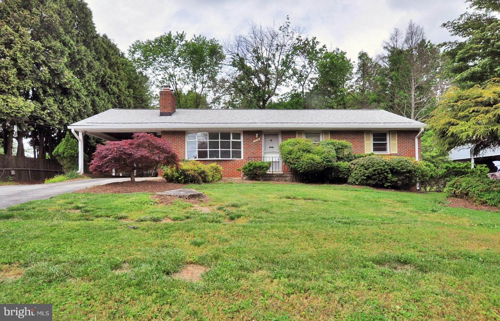 Solid all brick rambler on a level over 1/2 acre treed lot in sought-after Peach Orchard Heights! Hu
