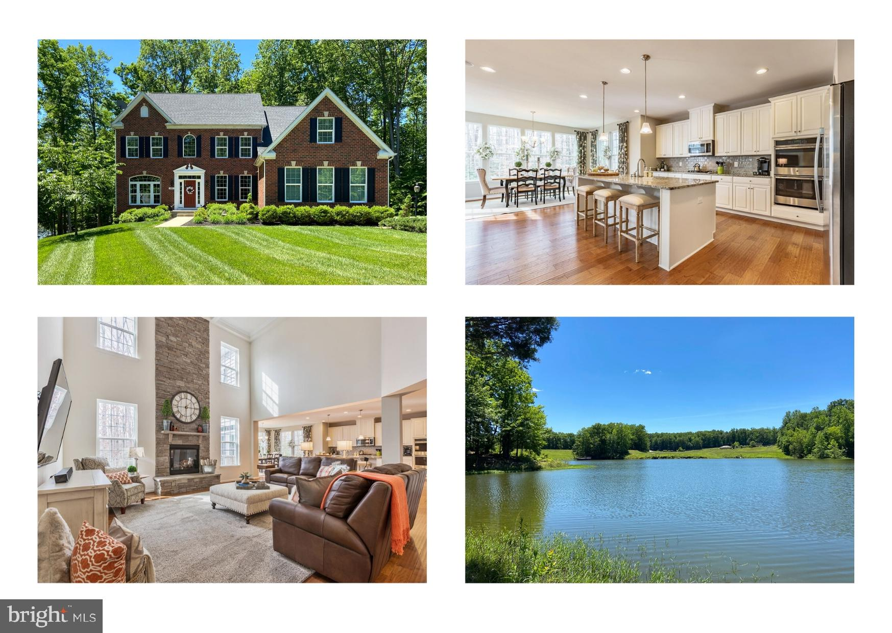Stunning waterfront  estate home on over 9 private  acres in one of Stafford's most exclusive neighb