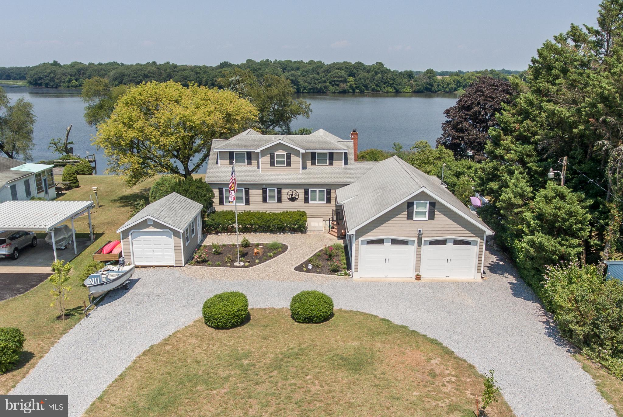 Crumpton - Pristine Chester River Waterfront!  The tax record  age reflects 1955, but the home has b