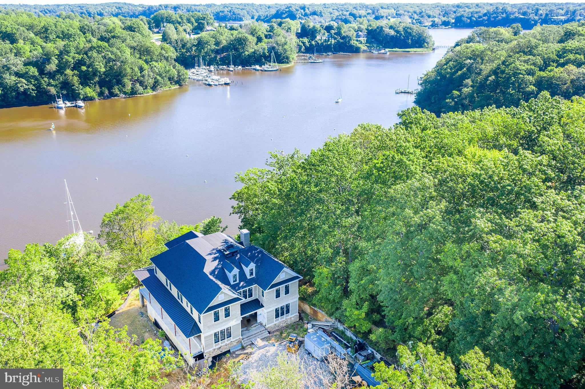 Absolute privacy in the heart of Annapolis.  Over 6 acres with 350 ft of water frontage on Clement's