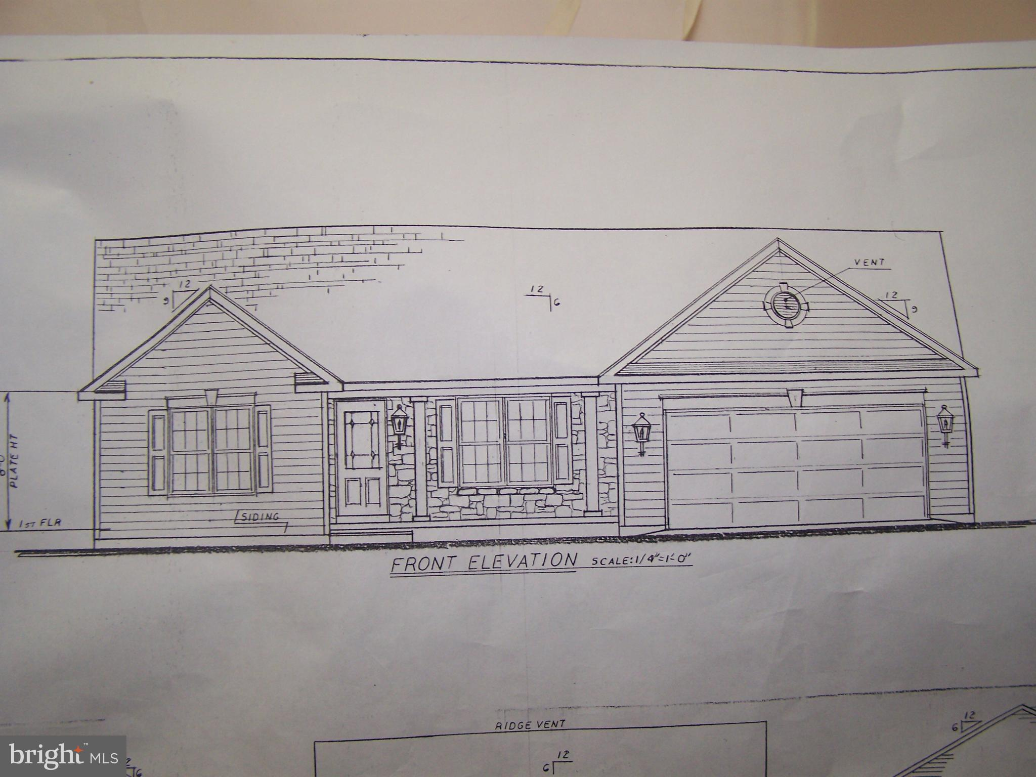 September Delivery for this Pfaff Built three bedroom, two bath,  stone and vinyl rancher on a one a