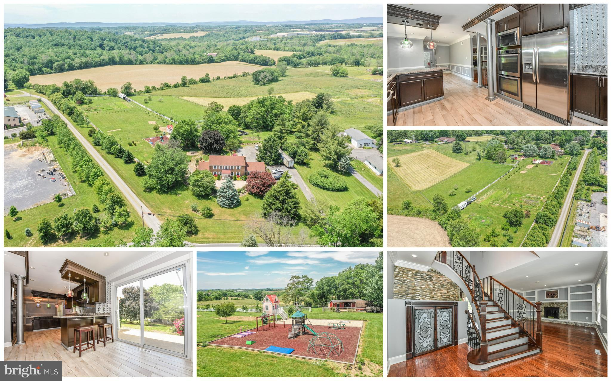 Completely~renovated all-brick colonial located in southern~Frederick Co. 5.07 acres includes an add