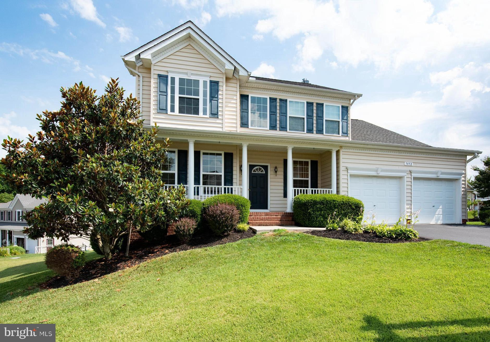 Eye-catching colonial full of style and fun in a sought-after Chesapeake Village offers 4 bedrooms,