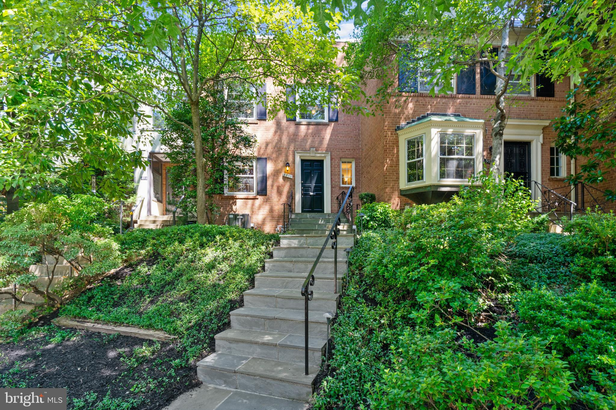 RENOVATED~LIGHT & BRIGHT, SPACIOUS ATTACHED CHEVY CHASE TOWNHOME on Quiet Street, Yet Close to All o