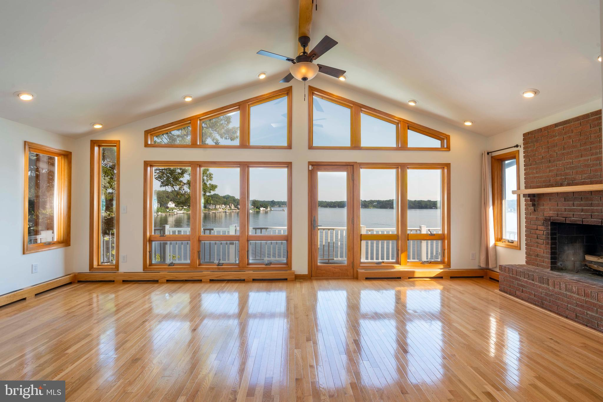 This waterfront home has breathtaking views of the scenic Severn River from both levels. The master