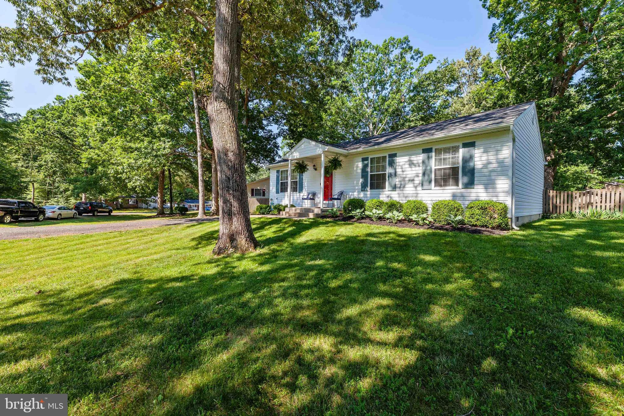Meticulously maintained, sweetest home on the block- located on a large level lot in Wicomico Shores