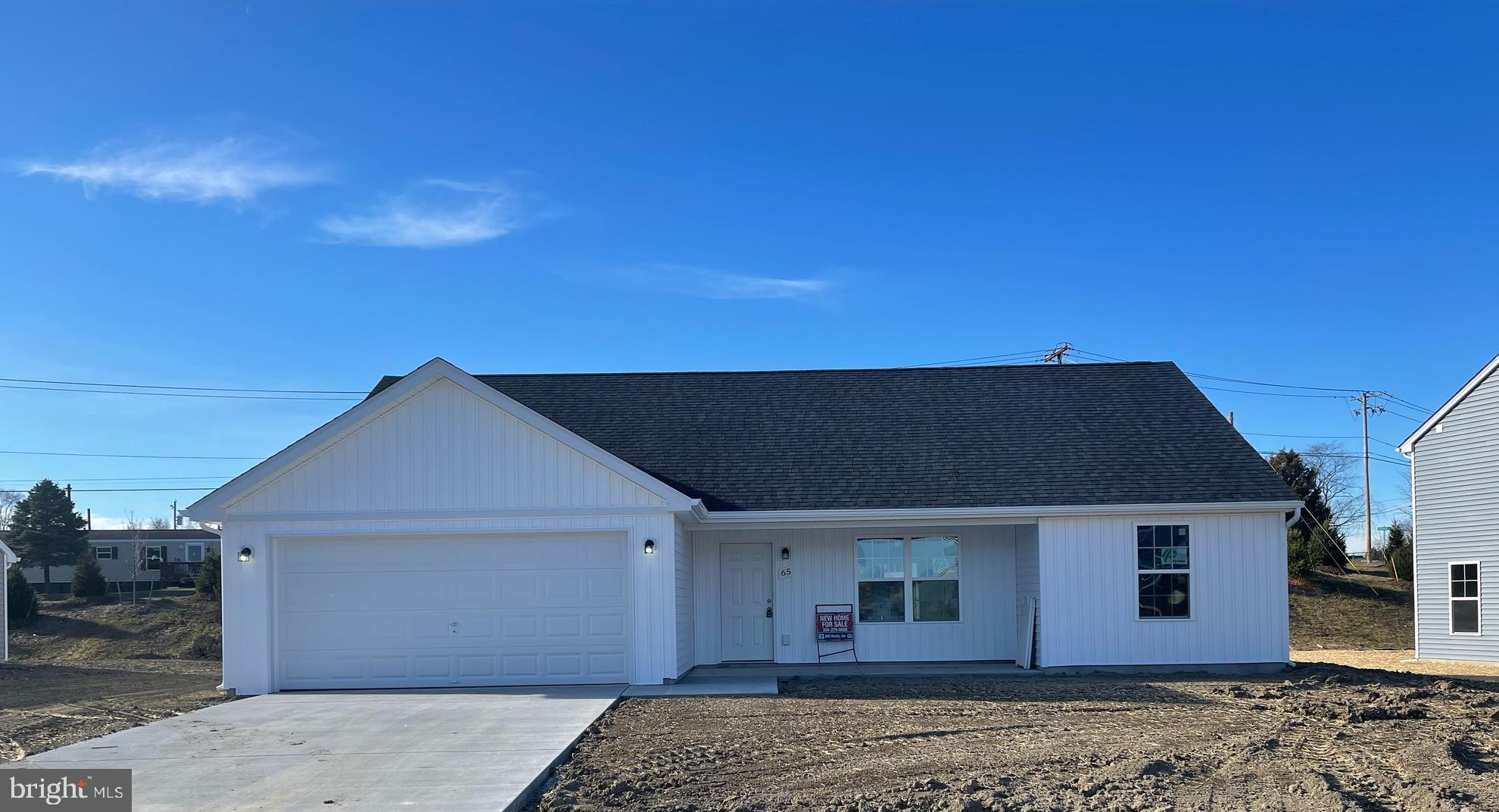 Construction to start Soon..Three bedrooms,two baths,two car garage,concrete patio,front porch,cathe