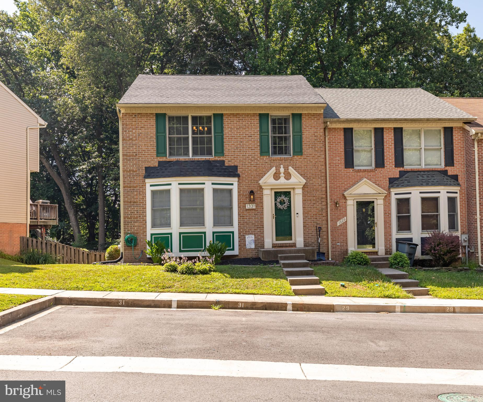 Beautiful brick, end of group townhome in Foxborough Farms of Bel Air. Spacious and stunning, this h
