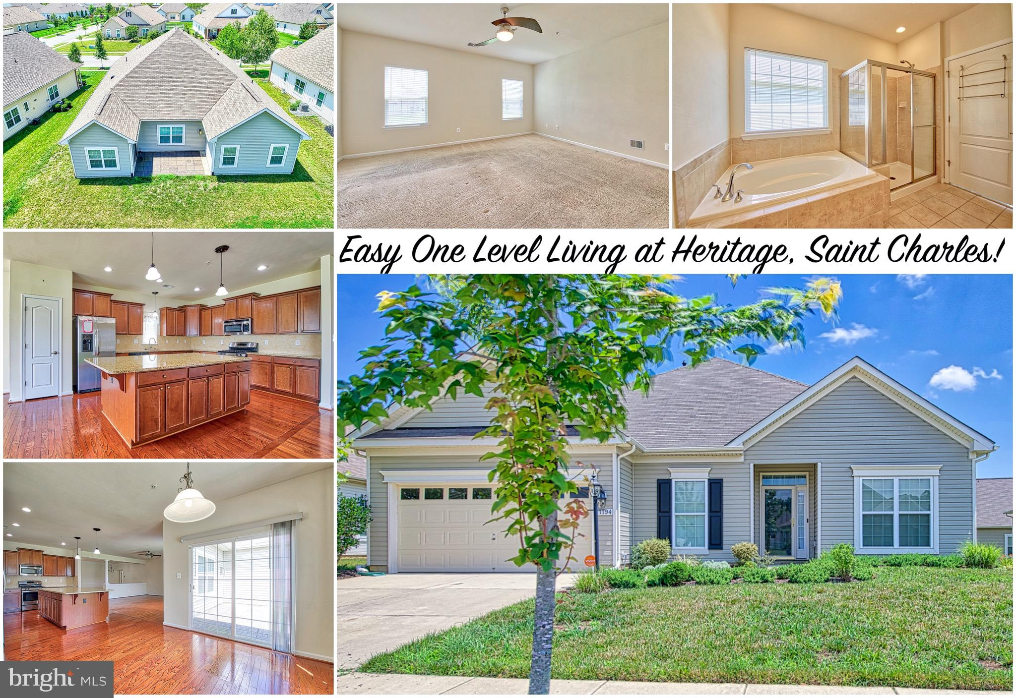 This beautiful rambler is located in an active adult community, Heritage at St Charles, in White Pla